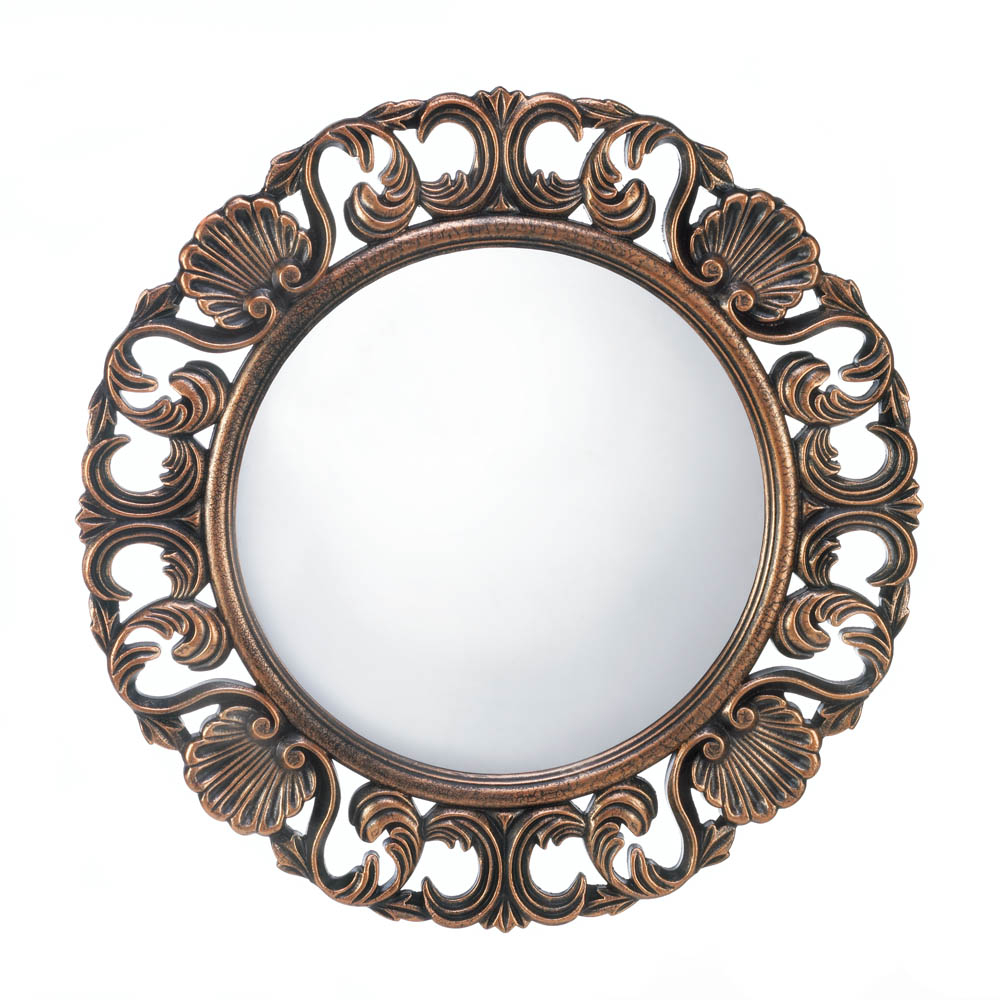 Best And Newest Round Decorative Wall Mirrors Throughout Details About Mirrors For Wall Decor, Antique Mirrors For Wall, Heirloom Round Wall Mirror (View 5 of 20)