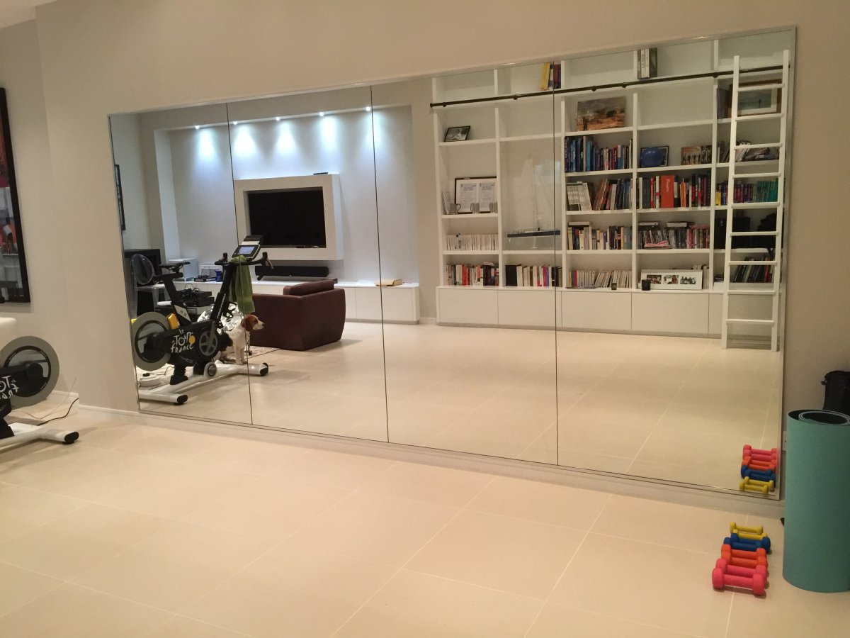 Best And Newest Simple Gym Wall Mirrors Mirror Ideas For Install Home Full Size For Wall Mirrors For Home Gym (View 2 of 20)