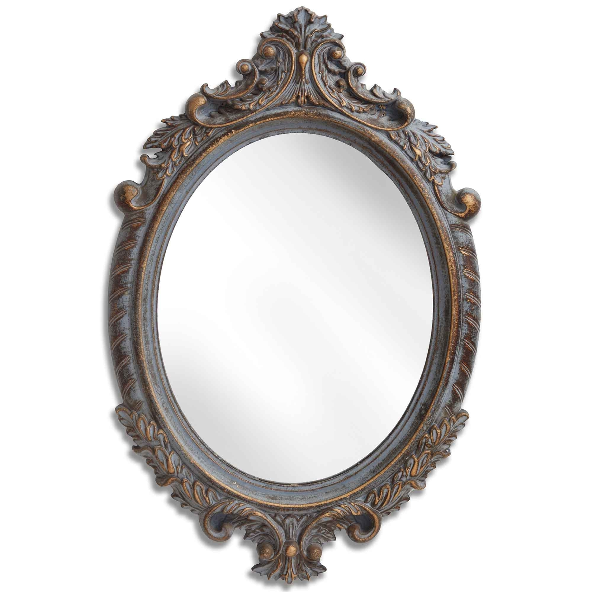 Best And Newest Small Antique French Style Oval Mirror For Small Oval Wall Mirrors (View 4 of 20)