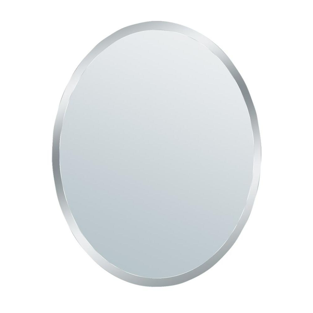 Best And Newest Small Oval Wall Mirrors Within Glacier Bay 31 In. X 21 In (View 5 of 20)
