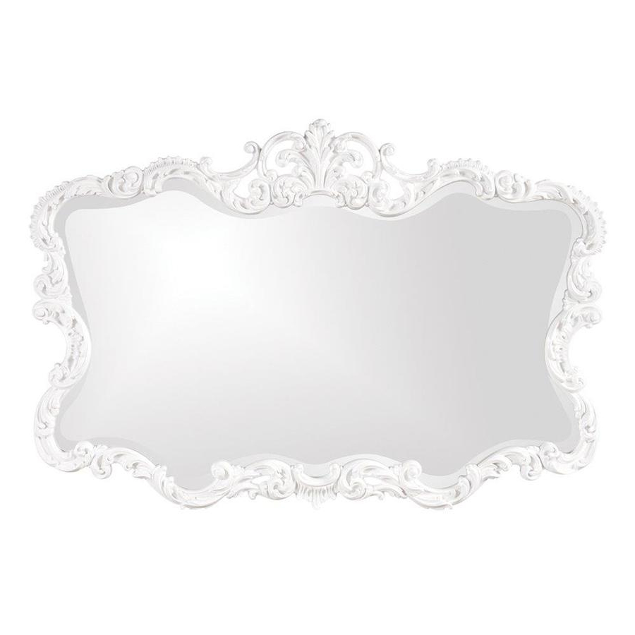 Best And Newest Talida Wall Mirrors Pertaining To The Howard Elliott Collection Talida 27 In L X 38 In W White (View 4 of 20)