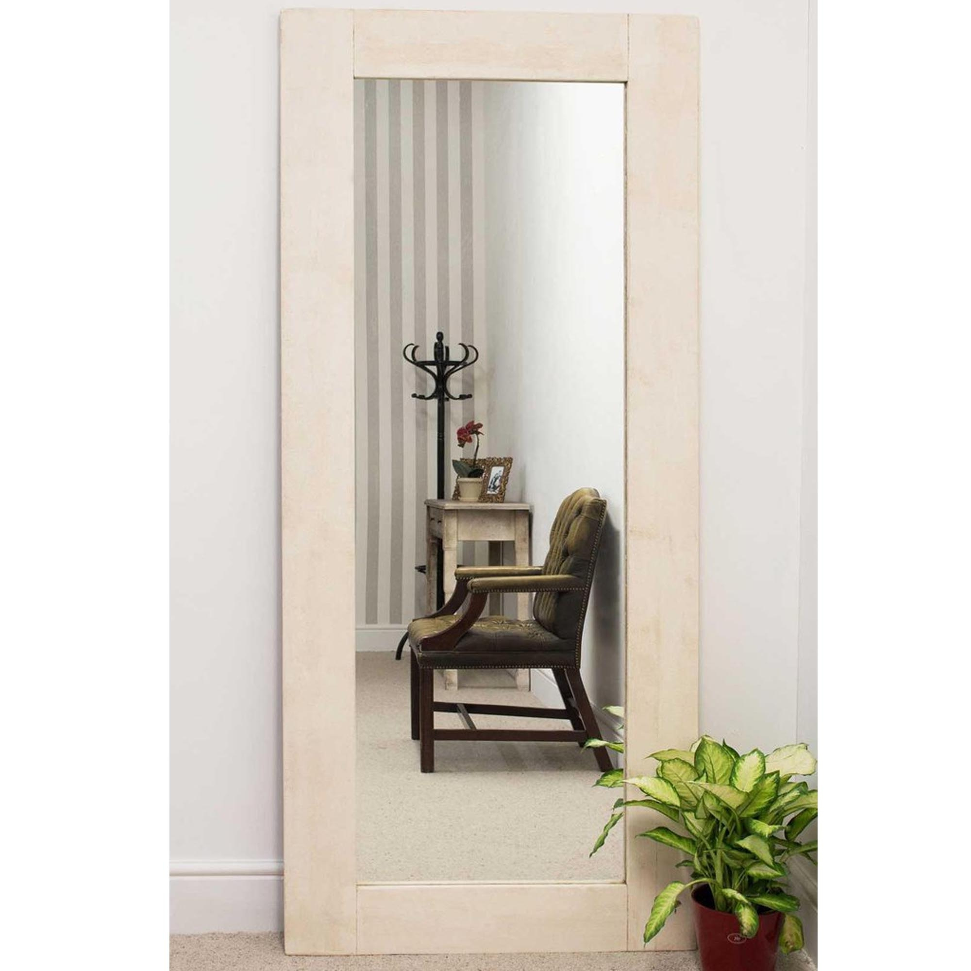 Best And Newest Tall Thin Rustic Country House White Wall Mirror Throughout Tall Narrow Wall Mirrors (View 2 of 20)