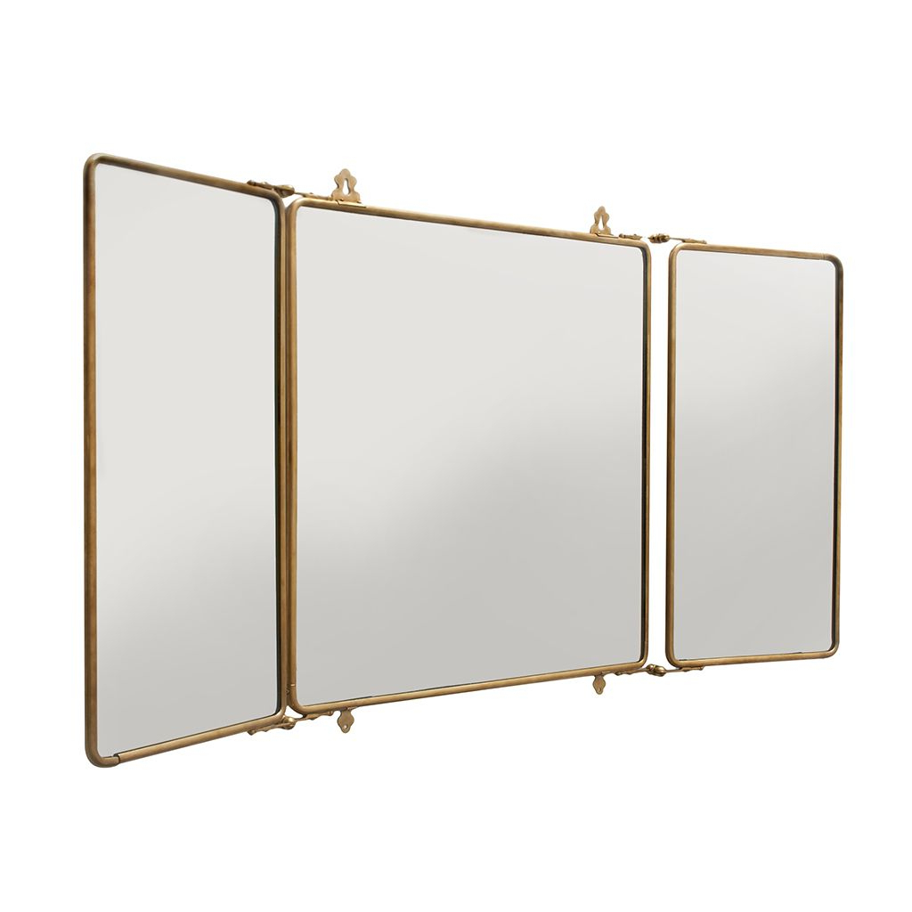 Best And Newest Three Way Wall Mirrors Inside Mirrors: Use Tri Fold Vanity Mirror To View Yourself At (View 3 of 20)