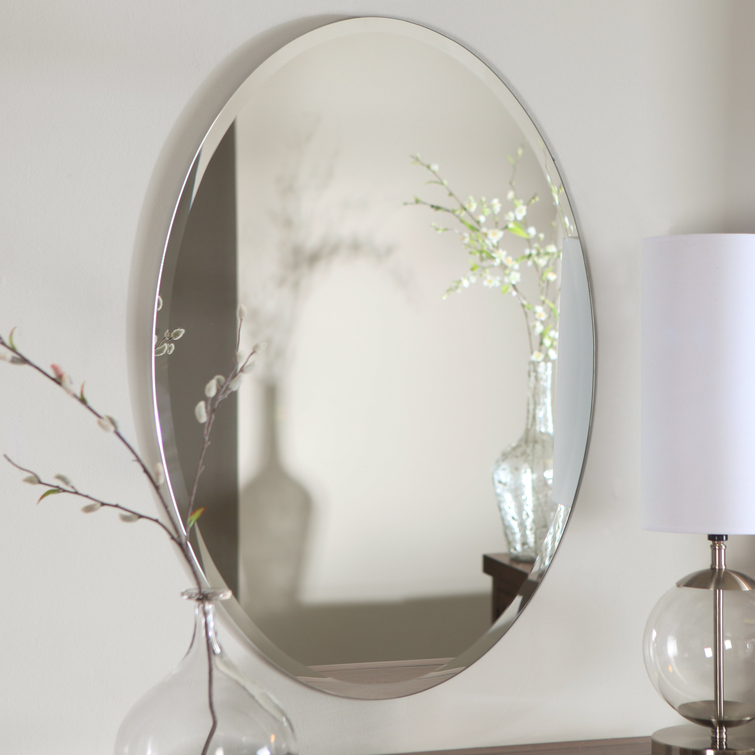 Best And Newest Top 35 Marvelous Frameless Mirror Plain Floor Length Accent Regarding Full Length Oval Wall Mirrors (View 4 of 20)
