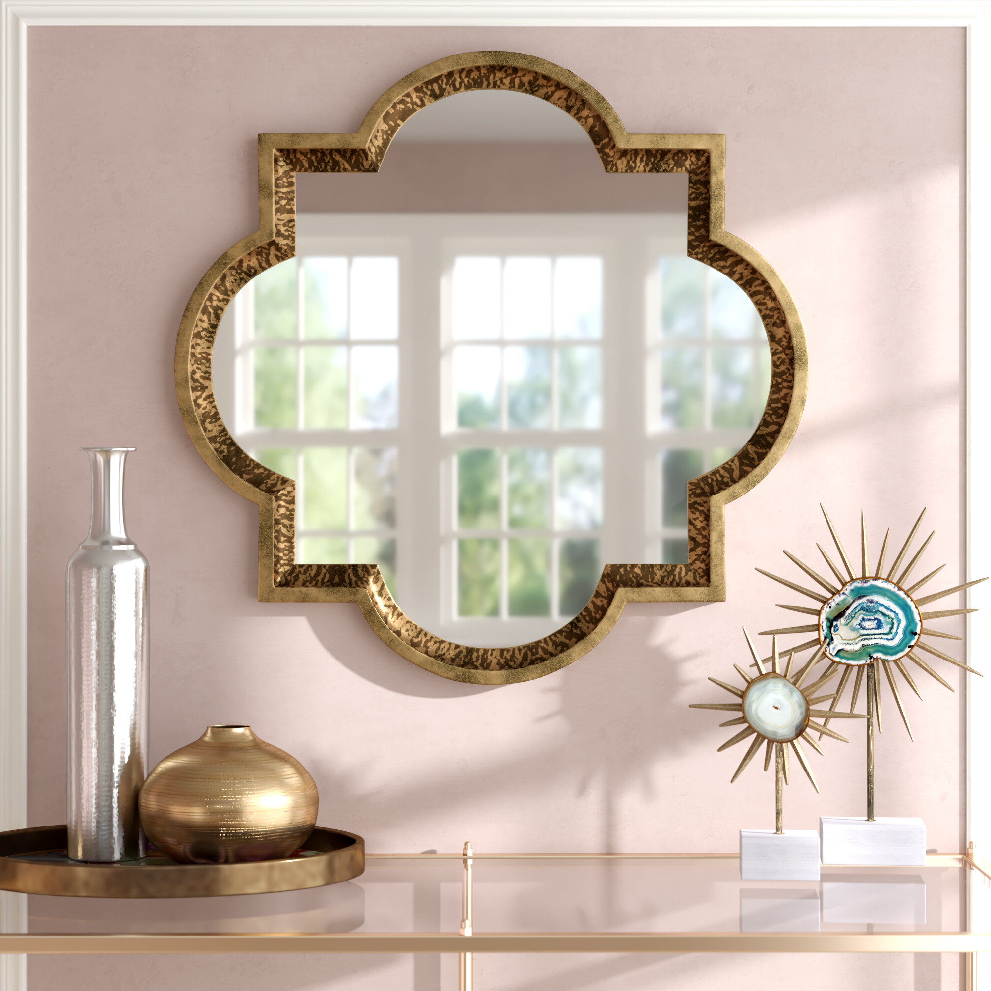Best And Newest Traditional Metal Wall Mirrors With Willa Arlo Interiors Traditional Metal Frame Wall Mirror (View 13 of 20)