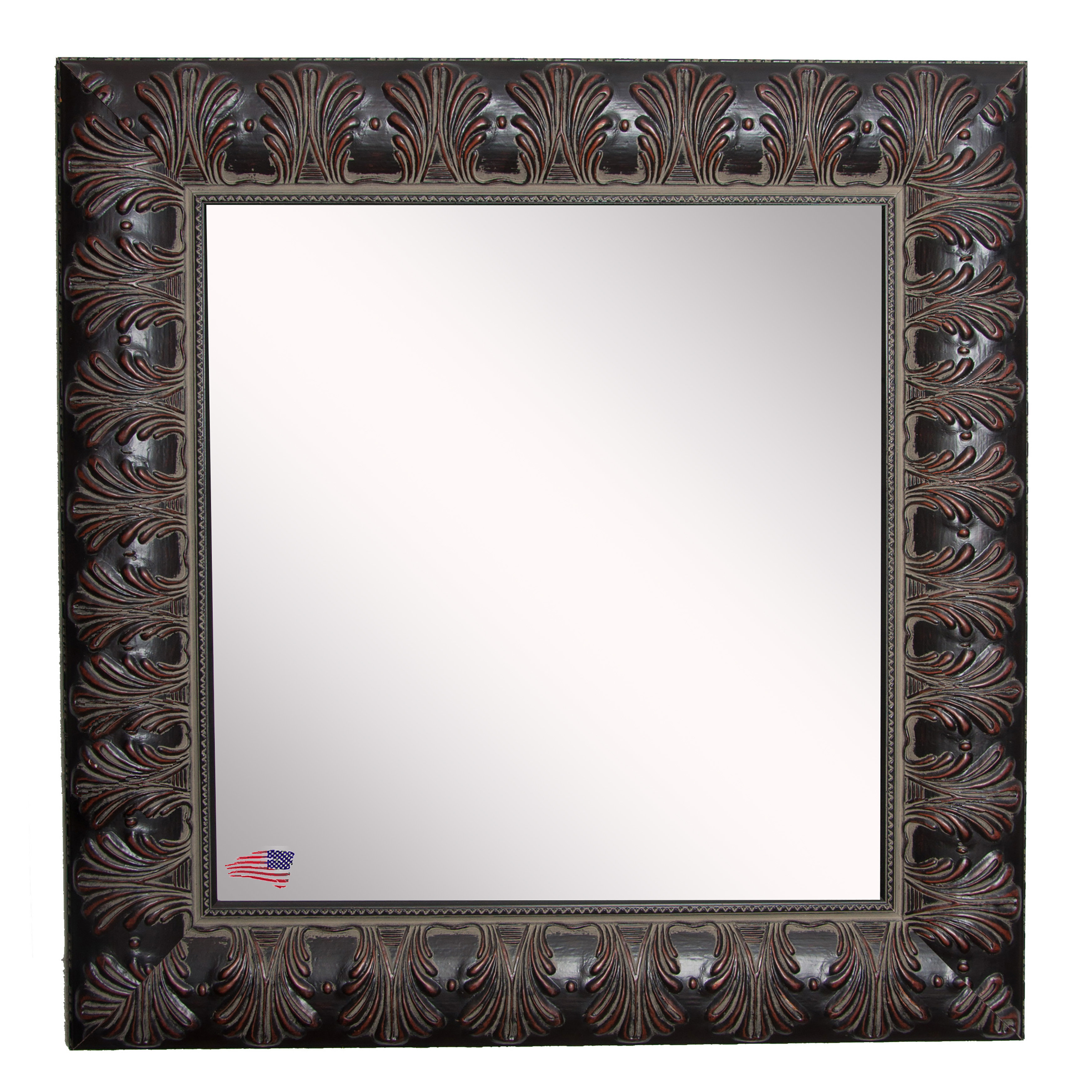 Best And Newest Ulus Accent Mirrors Within Square Feathered Accent Wall Mirror (View 13 of 20)