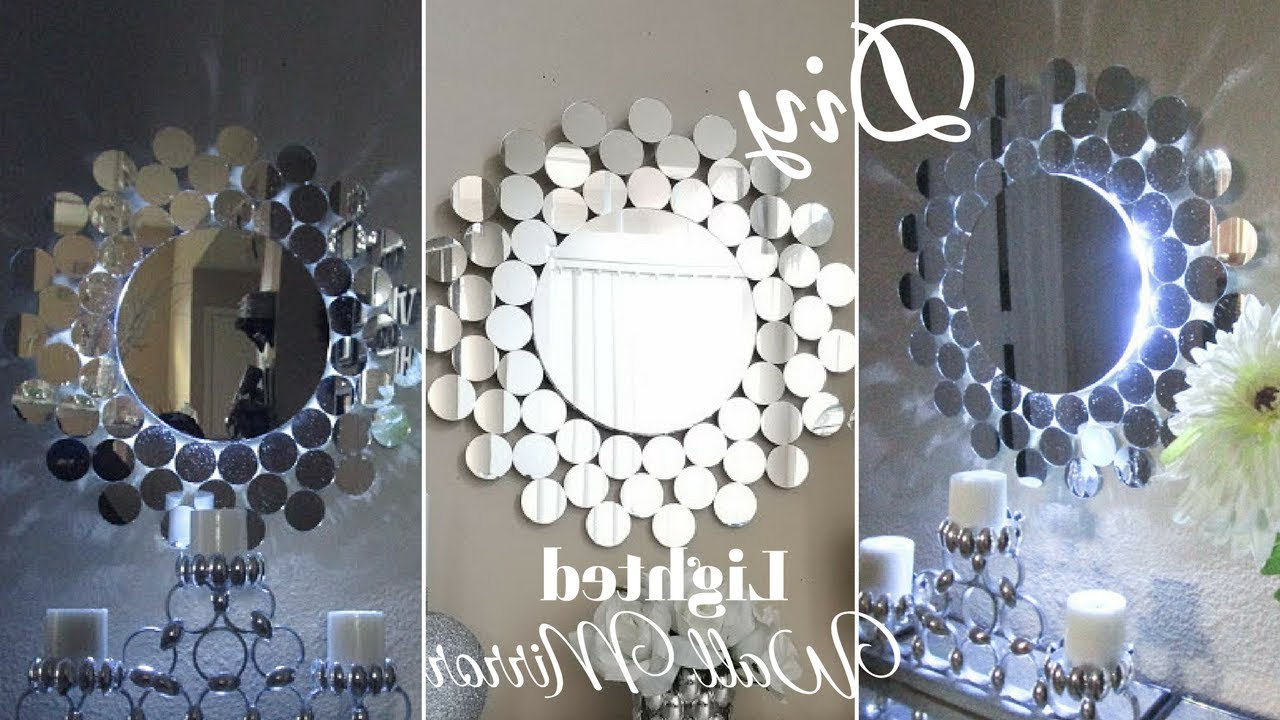 Best And Newest Unique Wall Mirror Decors With Diy Glam Wall Mirror Decor With Inbuilt Lighting! (View 7 of 20)