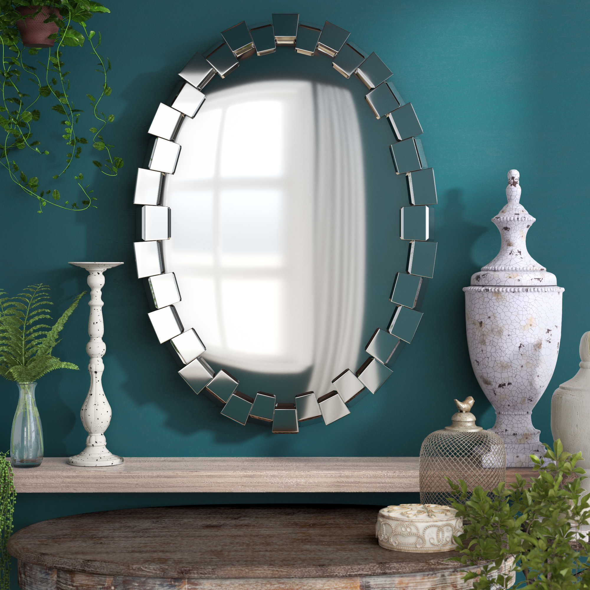 Best And Newest Wade Logan Pennsburg Accent Wall Mirror Regarding Pennsburg Rectangle Wall Mirrors (View 4 of 20)