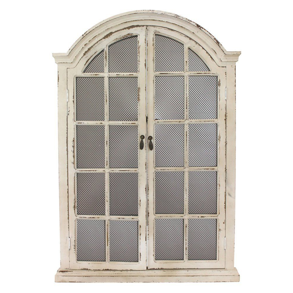 Best And Newest Window Cream Wood Wall Mirrors Inside Aspire Emily Window Wall Mirror, Cream (View 4 of 20)