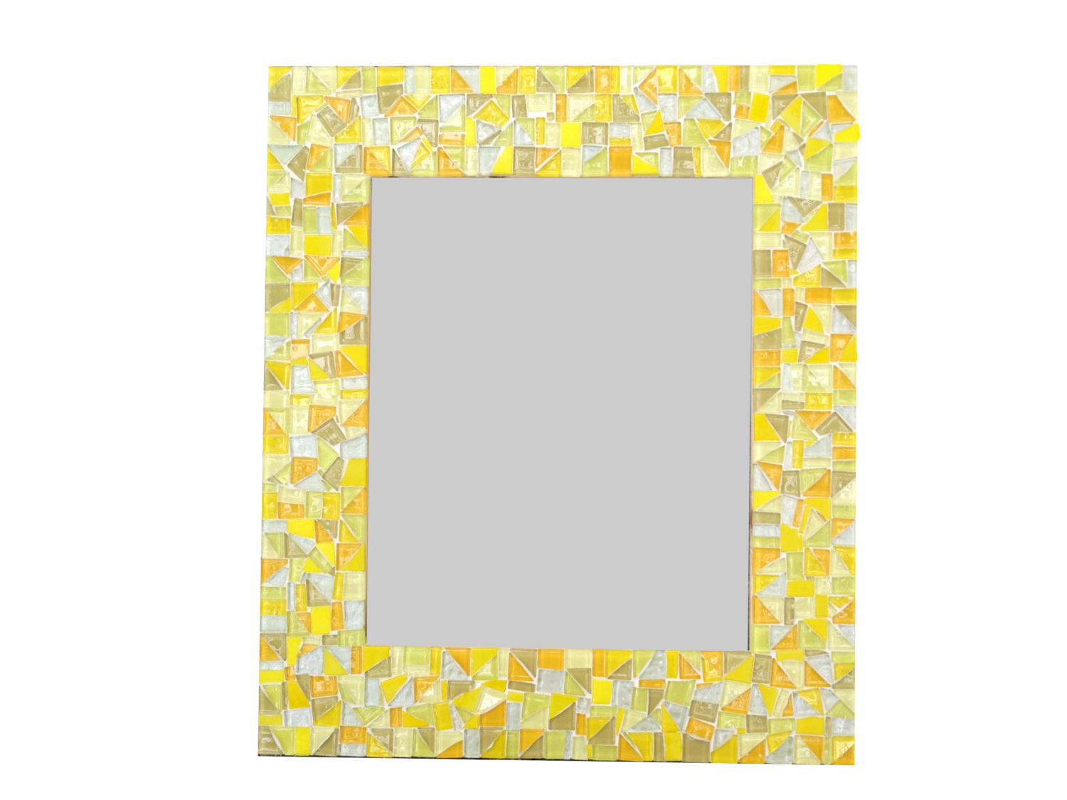 Best And Newest Yellow Wall Mirrors Throughout Yellow Wall Mirror / Large Mosaic Mirror / Bathroom Mirror / Colorful Wall  Mirror (View 3 of 20)