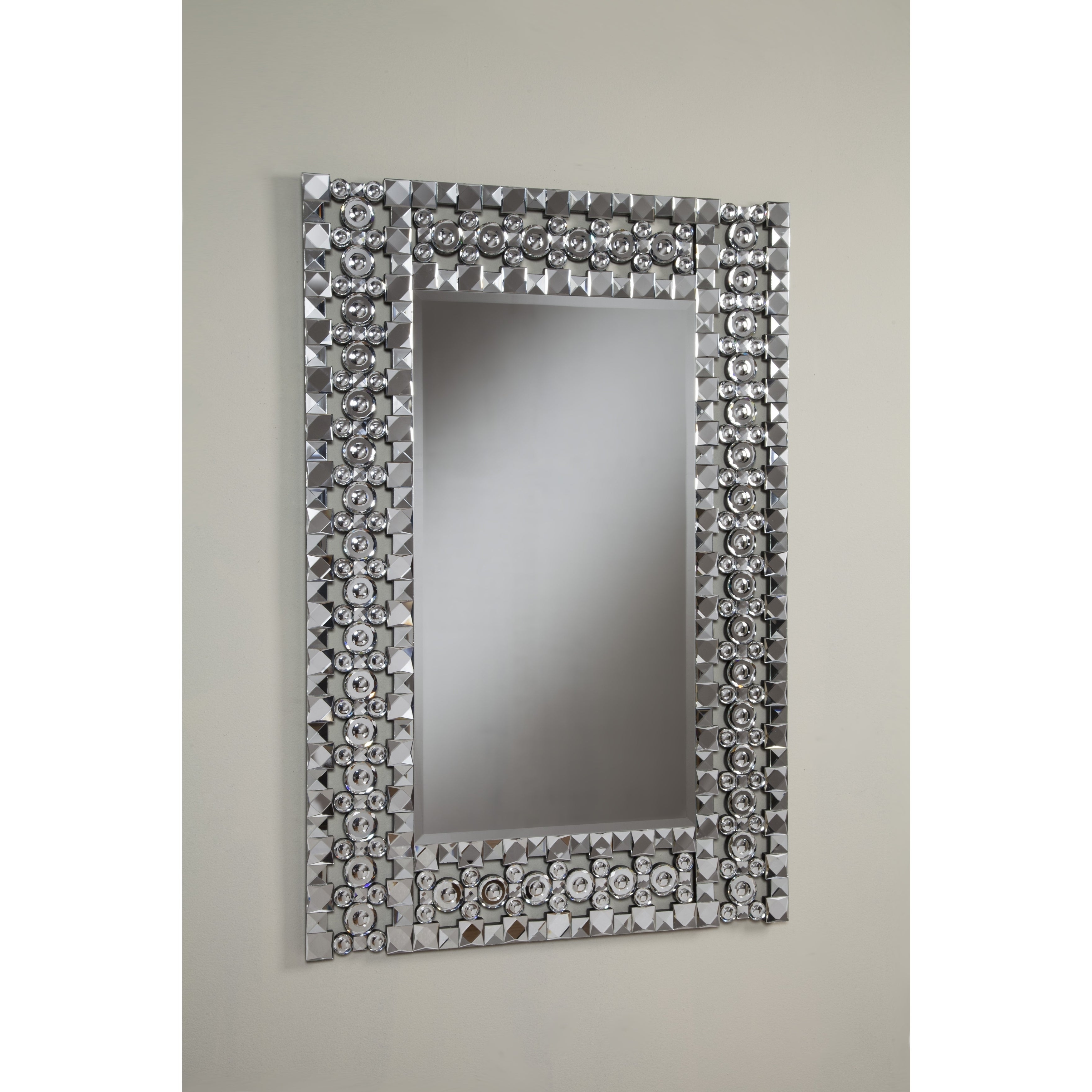 Best Quality Furniture Rectangle Crystal Wall Mirror Throughout 2019 Crystal Wall Mirrors (View 6 of 20)