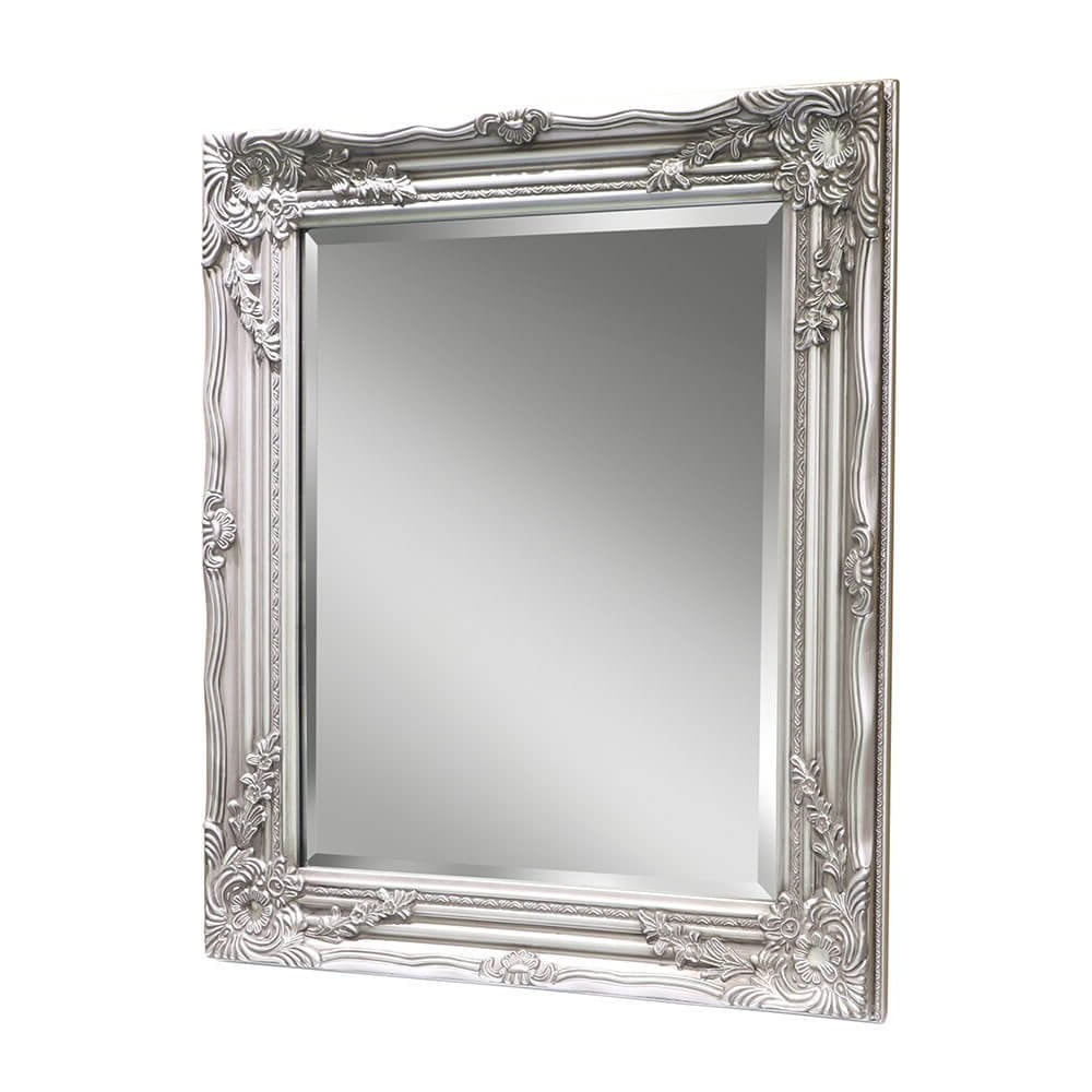 Bevel Decorative Silver Wall Mirror Inside Trendy Black And Silver Wall Mirrors (View 10 of 20)