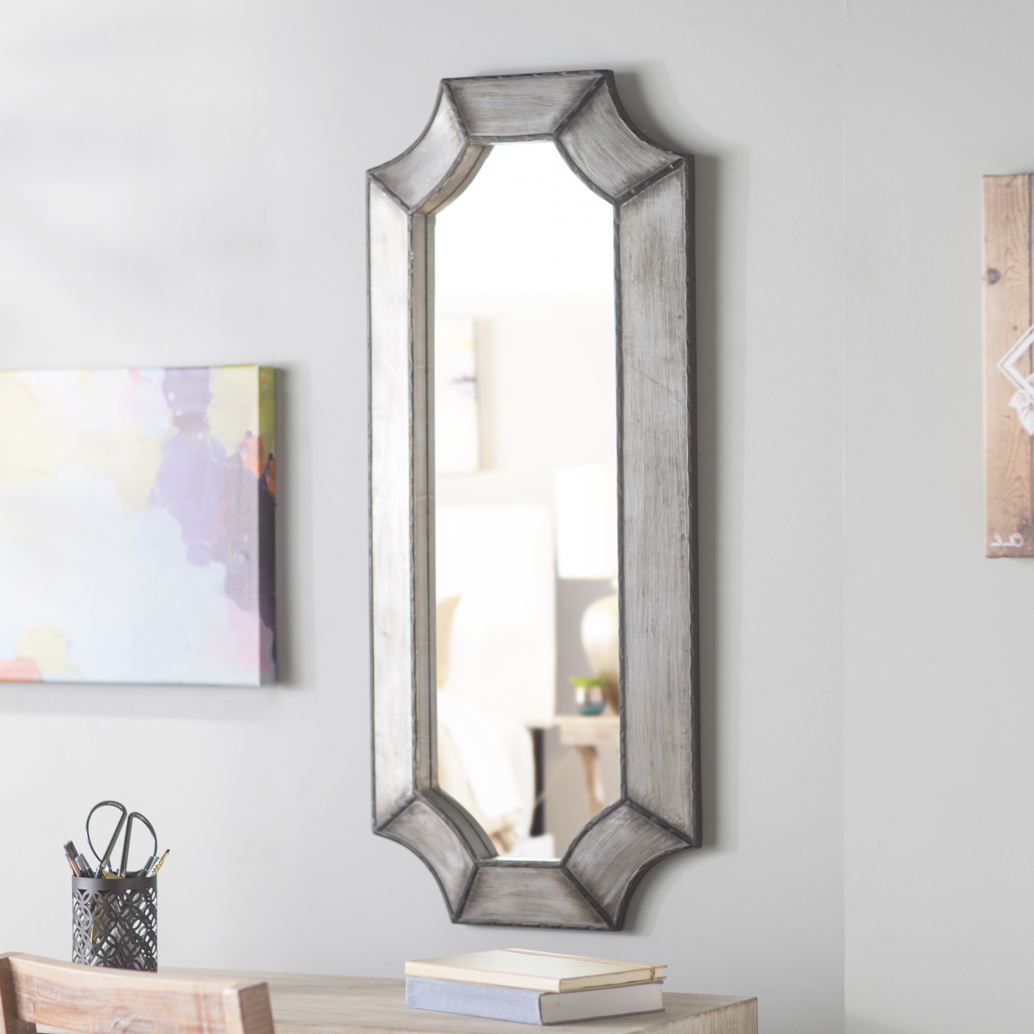 Beveled Wall Mirror With Newest Padang Irregular Wood Framed Wall Mirrors (View 7 of 20)
