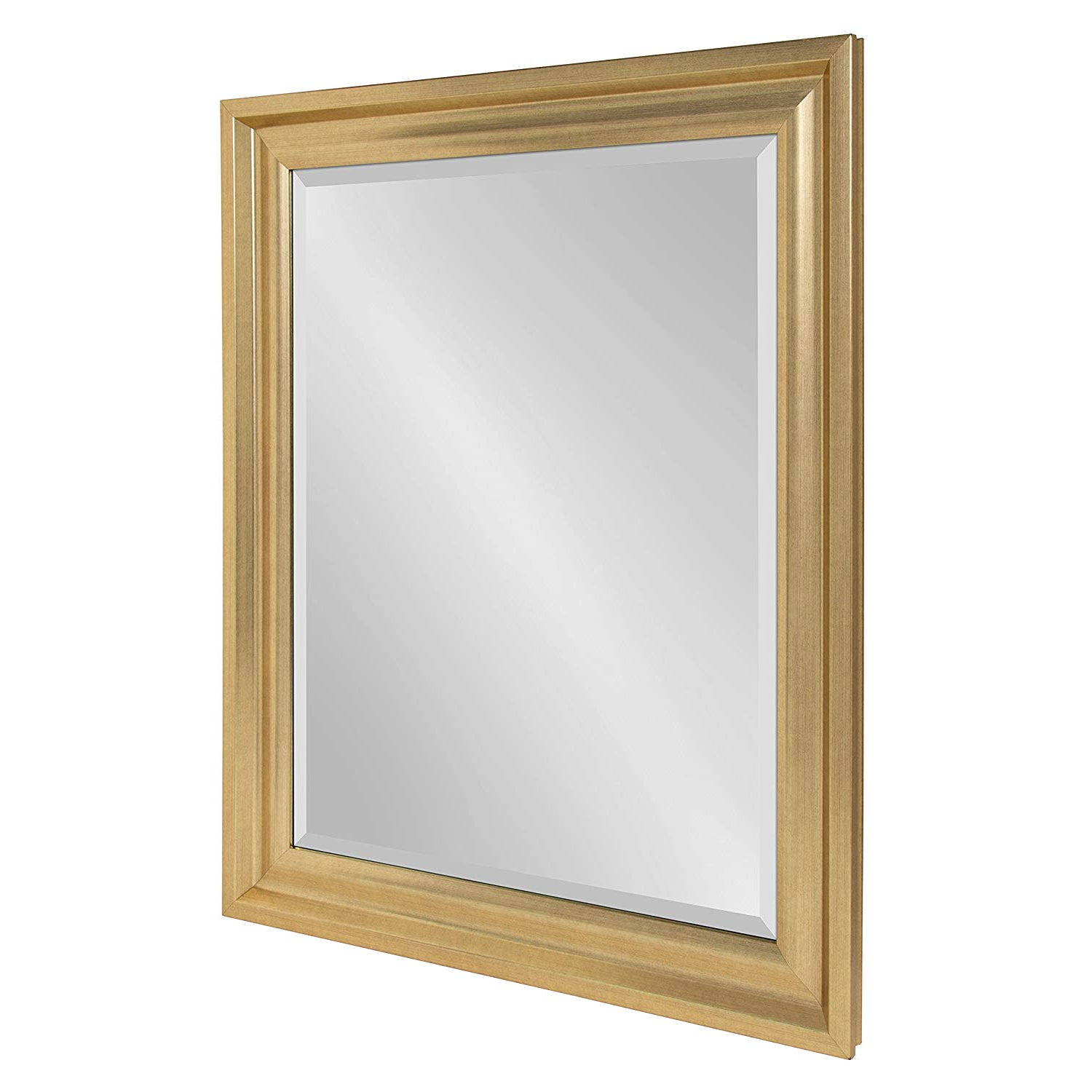 Beveled Wall Mirrors Inside Widely Used Kate And Laurel – Umber Large Framed Rectangle Beveled Wall Mirror, 27.5 X (View 6 of 20)