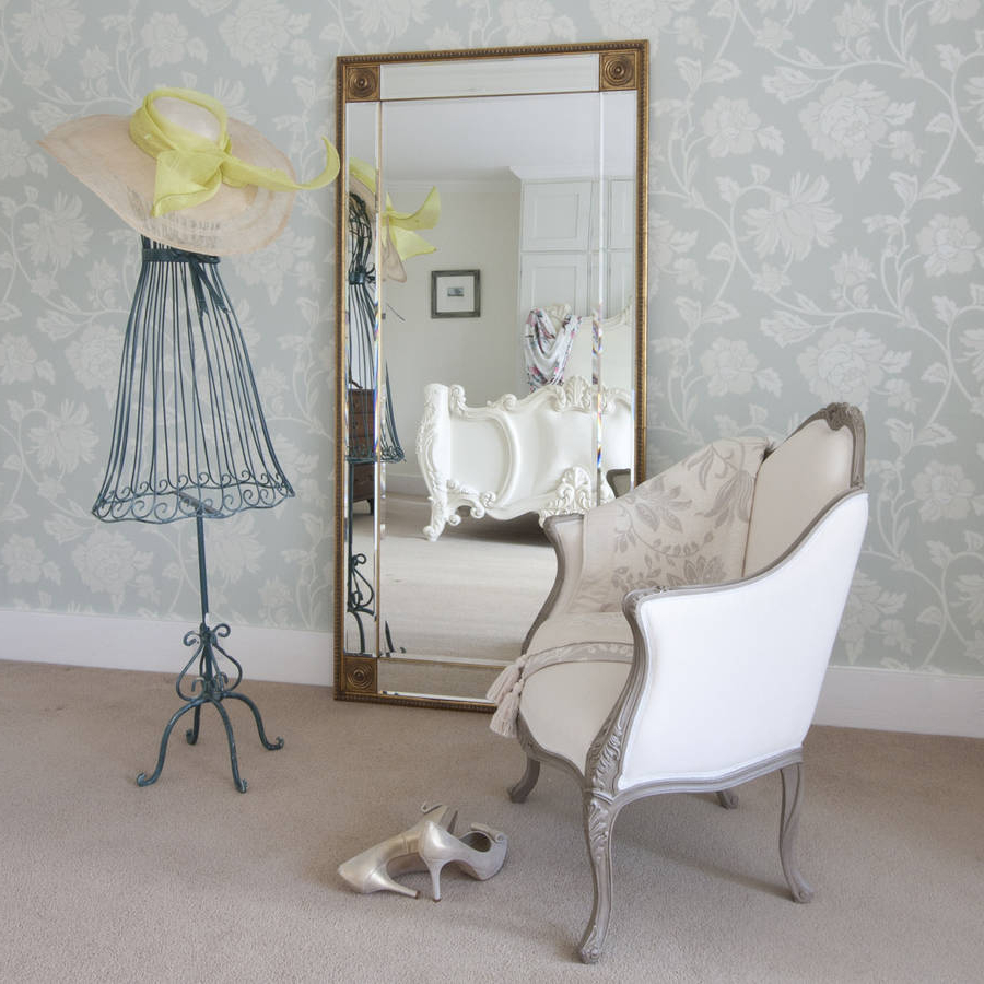 Bevelled Gold Full Length Mirror For Preferred Framed Full Length Wall Mirrors (View 14 of 20)