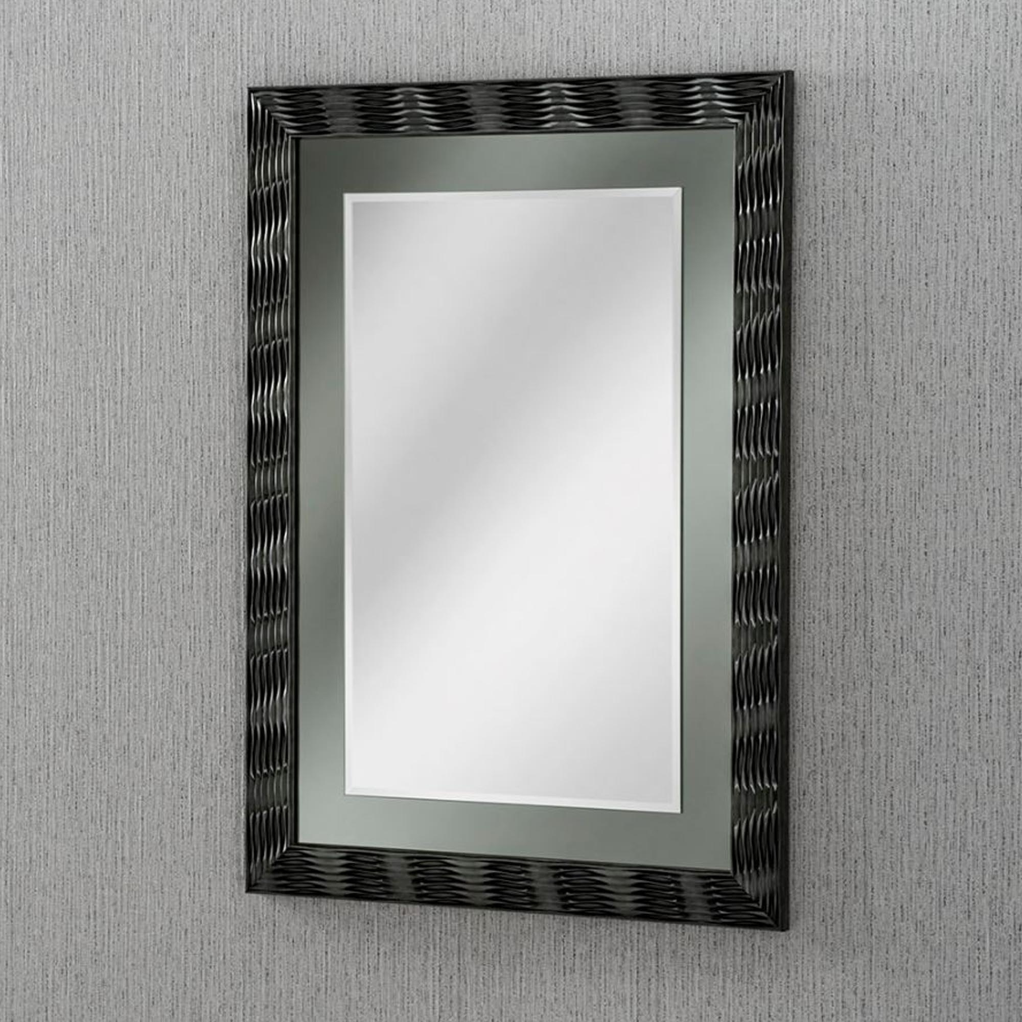 Bevelled Wall Mirrors Throughout Best And Newest Multi Bevelled Grey Laca Finished Wall Mirror (View 14 of 20)