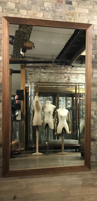 Big Size Wall Mirrors Regarding Trendy Pair Of Big Walnut Shop Wall Mirrors In Mirrors (View 12 of 20)