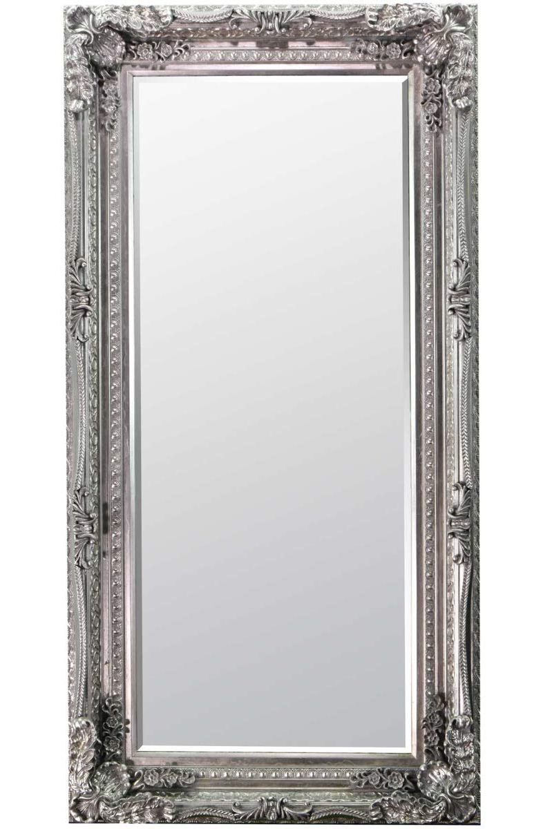 Big Wall Mirrors Regarding Widely Used 6ft X 3ft 180cm X 90cm Large Silver Shabby Chic Bevelled Big Wall Mirror New (View 19 of 20)