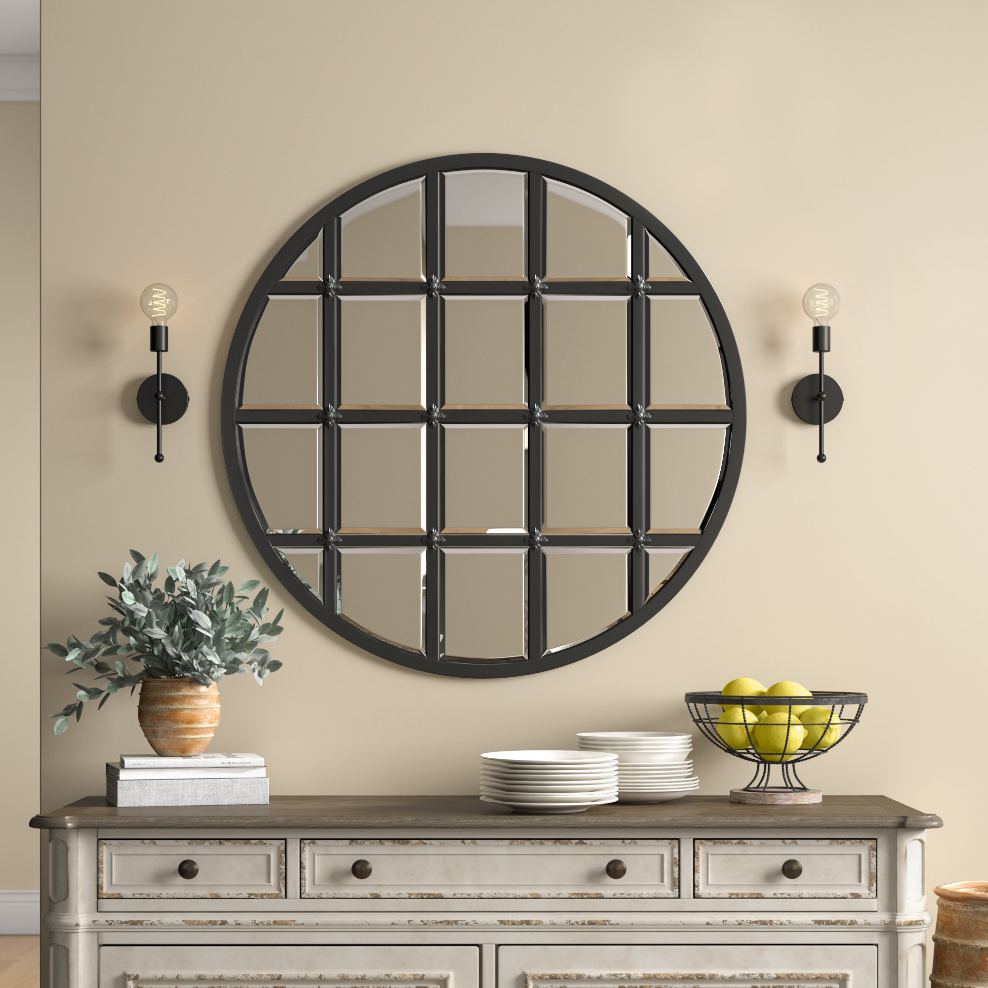 Birch Lane™ Heritage Wells Traditional Accent Mirror With Regard To 2019 Yatendra Cottage/country Beveled Accent Mirrors (View 12 of 20)