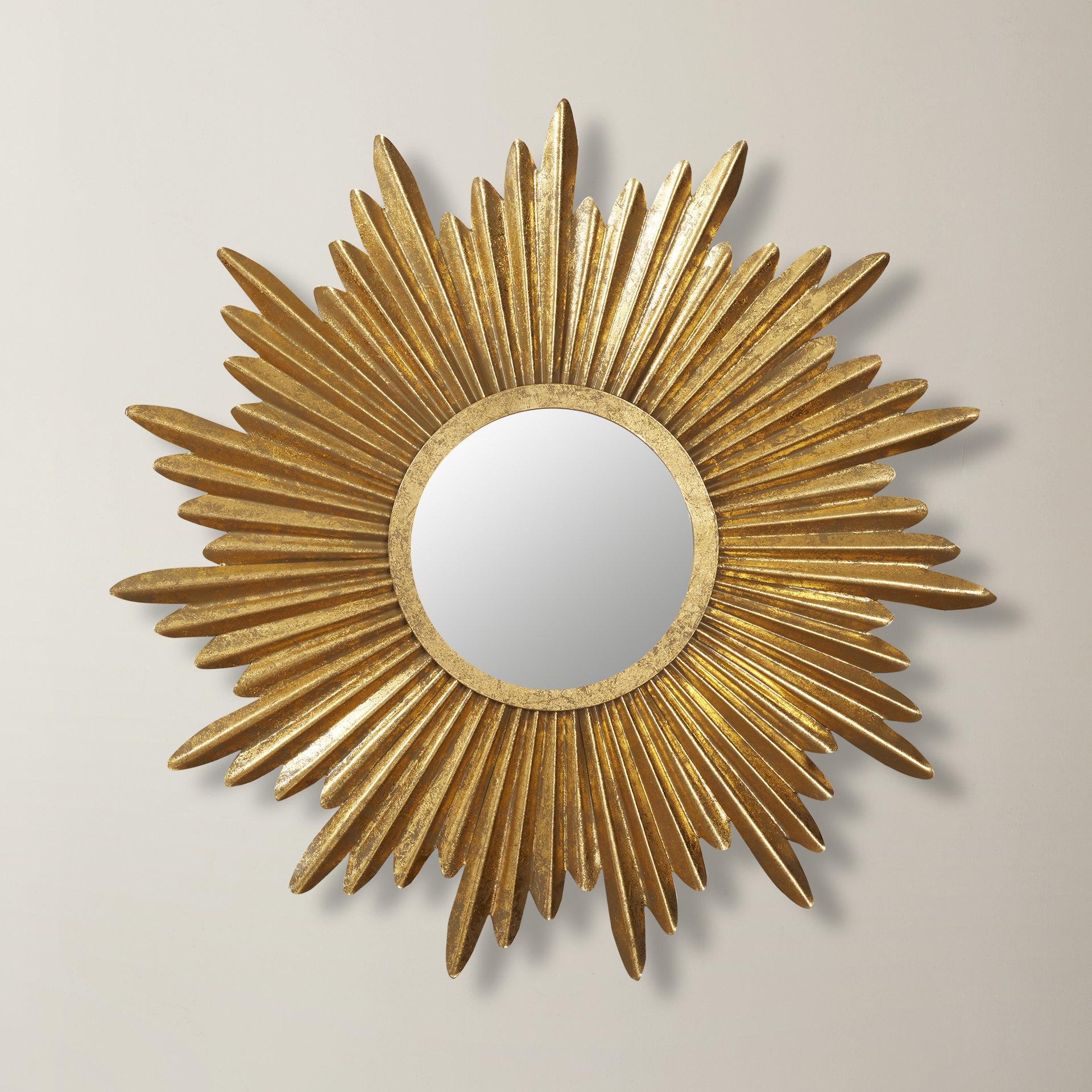 Birksgate Sunburst Accent Mirrors Regarding Well Known Traditional Sunburst Wall Mirror (View 13 of 20)