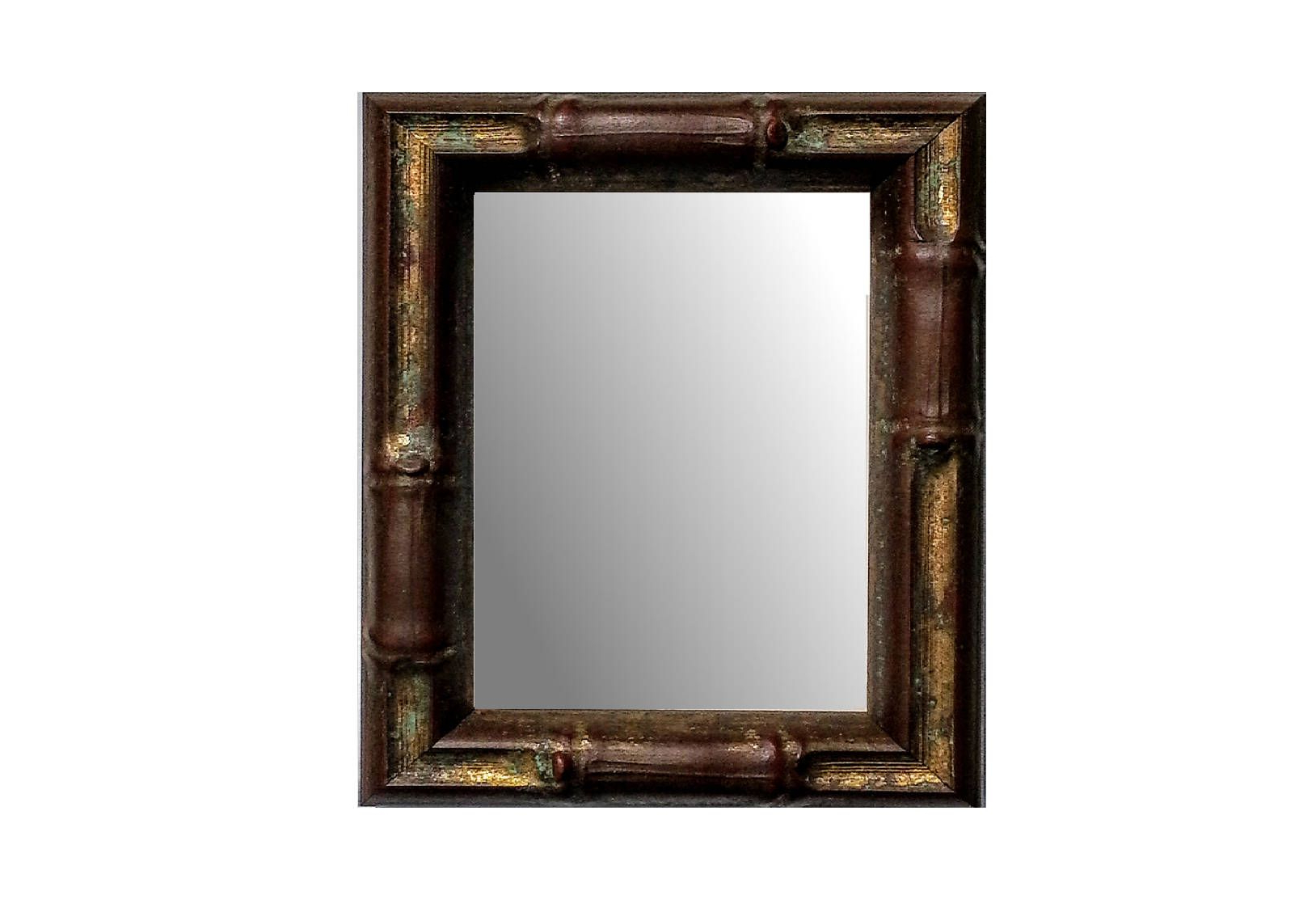 Black And Gold Wall Mirrors For Recent Custom Bamboo Mirror, Wall Mirror, Asian Decor, Choose Copper Gold (View 10 of 20)