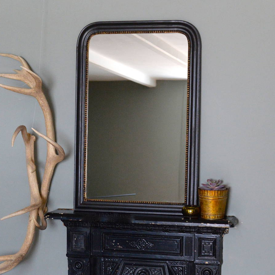 Black And Gold Wall Mirrors For Trendy Gold Edged Vintage Wall Mirror (View 12 of 20)