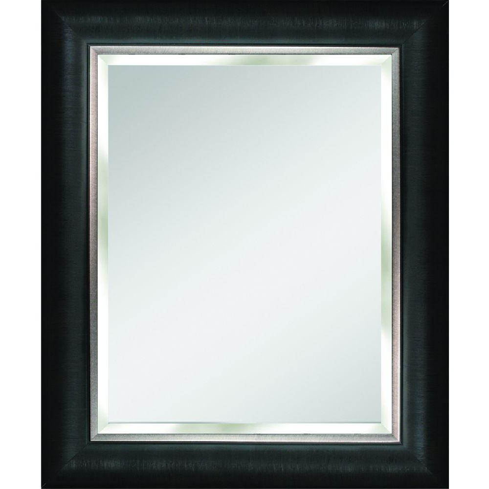 Black And Silver Wall Mirrors Inside Latest Details About Alderton 29 In. X 35 In (View 9 of 20)