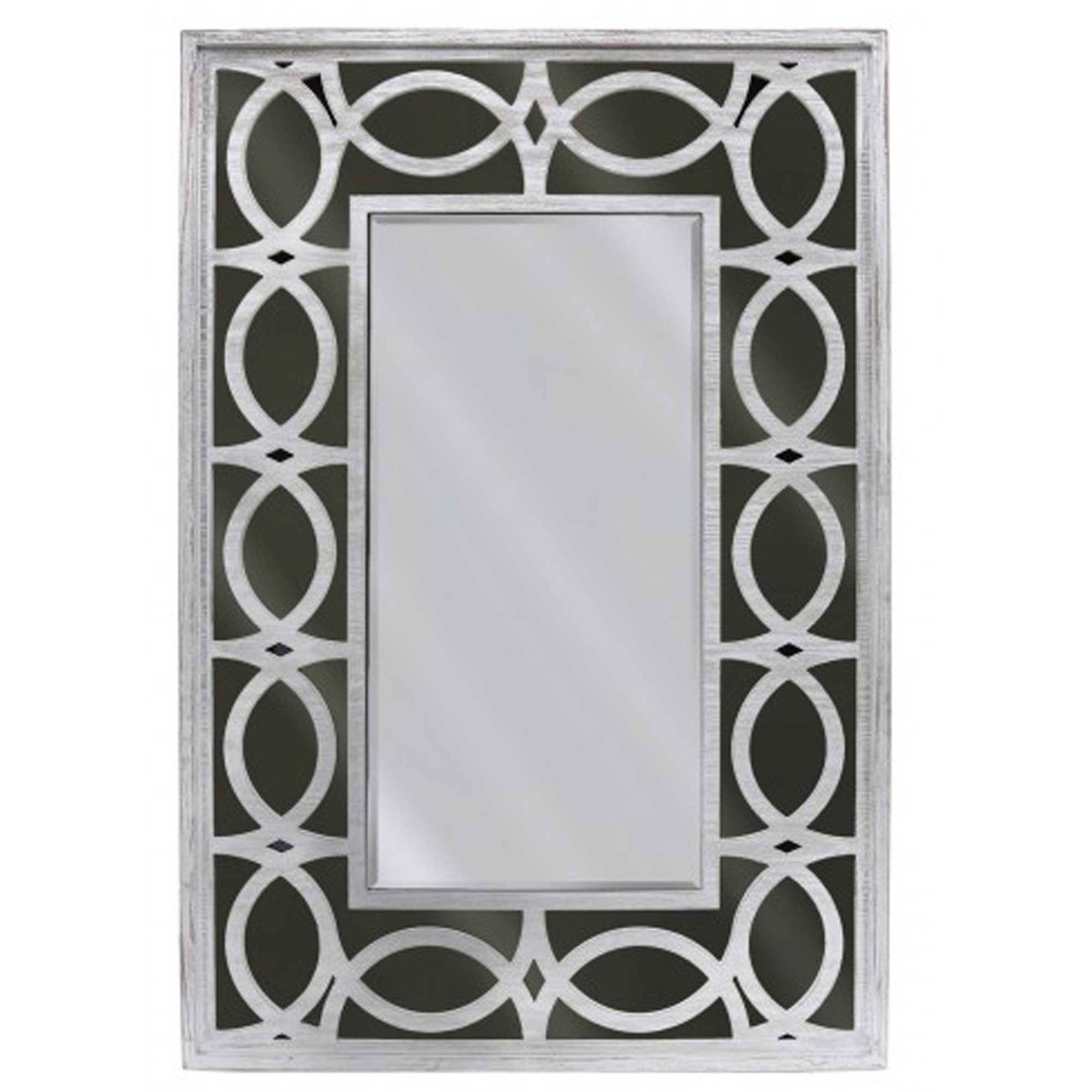 Black And Silver Wall Mirrors Regarding Well Liked Black & Silver Decorative Wall Mirror (View 5 of 20)
