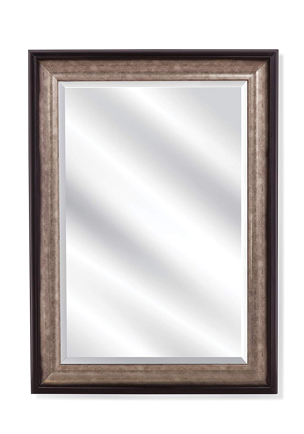 Black And Silver Wall Mirrors Throughout Most Recent Amazon: Bassett Mirror Company Bassett Mirror Griffin Black (View 16 of 20)