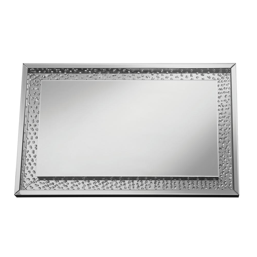 Black And Silver Wall Mirrors With Regard To Recent Sherry Rectangle Silver Decorative Wall Mirror (View 13 of 20)