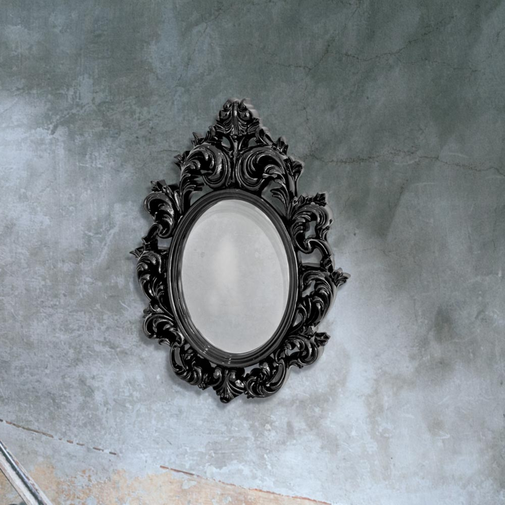 Black Decorative Wall Mirror Cl 33660 Regarding Favorite Black Decorative Wall Mirrors (View 9 of 20)