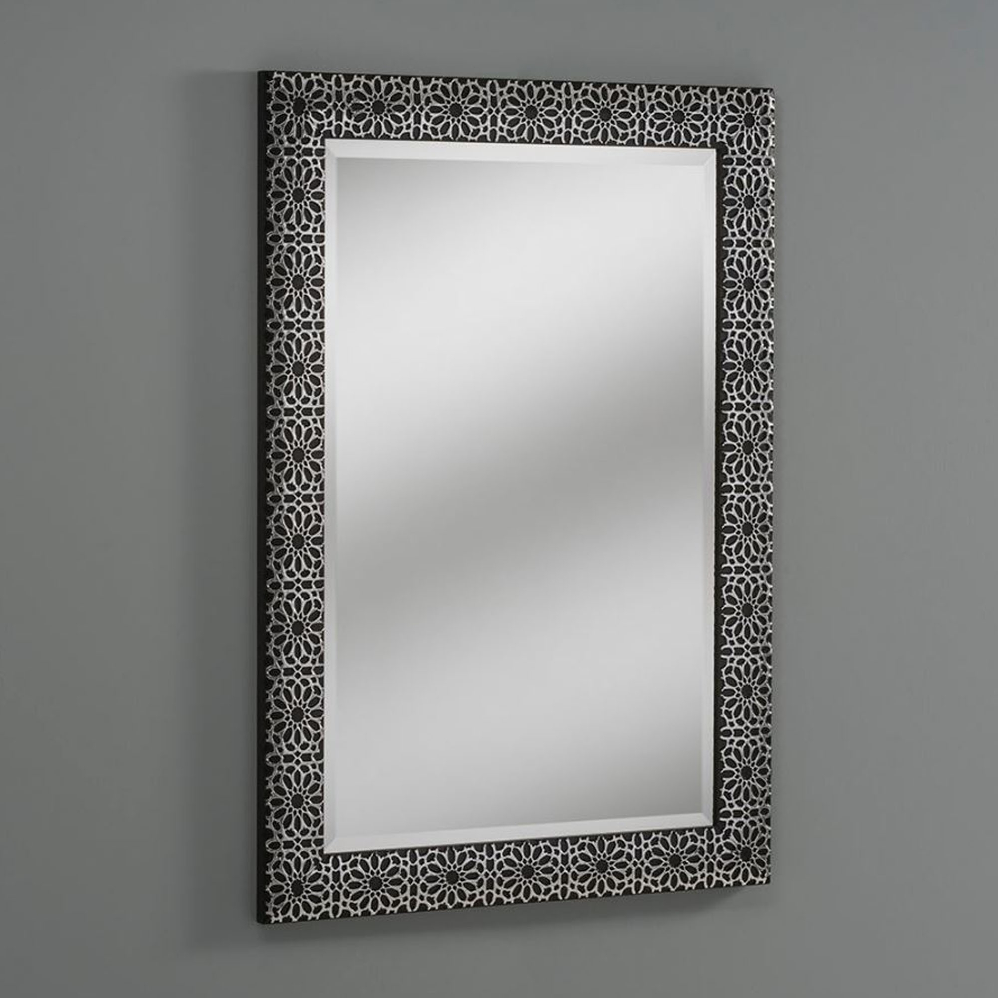 Black Decorative Wall Mirrors Inside Most Recent Petal Black Decorative Wall Mirror (View 7 of 20)