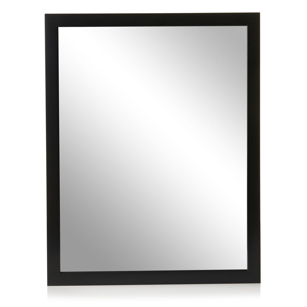 Black Frame Wall Mirrors In 2020 Wilko 52 X 41cm Black Frame Wall Mirror (View 20 of 20)