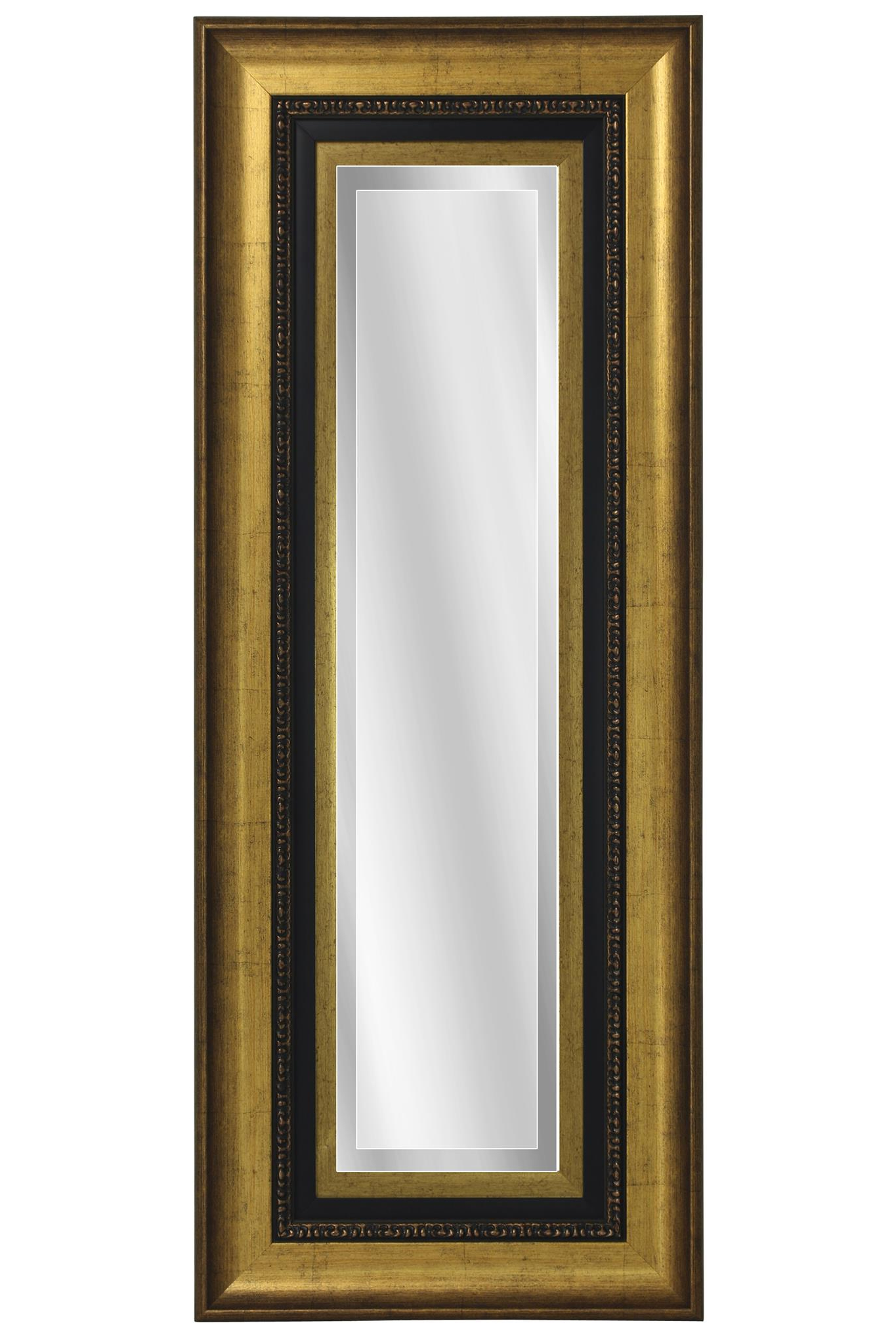 Black Frame Wall Mirrors Throughout Famous Gold Over Black Frame Rectangular Wall Mirror (View 15 of 20)