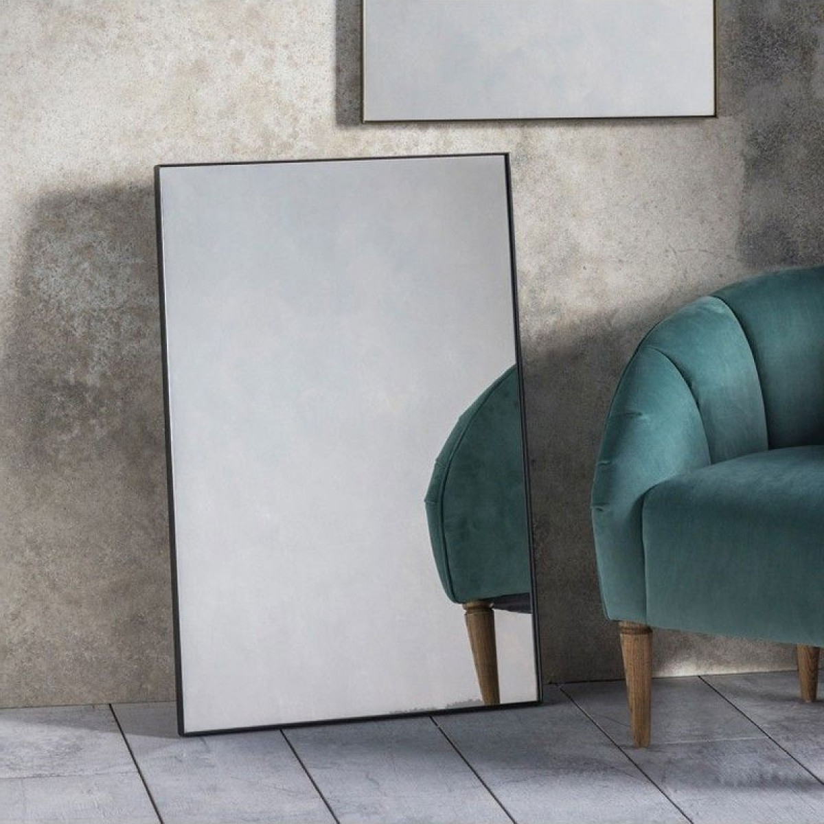 Black Frame Wall Mirrors With Regard To Current Rectangular Black Framed Wall Mirror – 60 X 90cm (View 14 of 20)