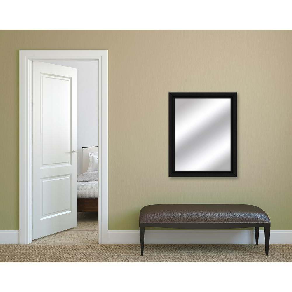 Black Framed Wall Mirrors Pertaining To Best And Newest 31 In. X 25 In (View 18 of 20)