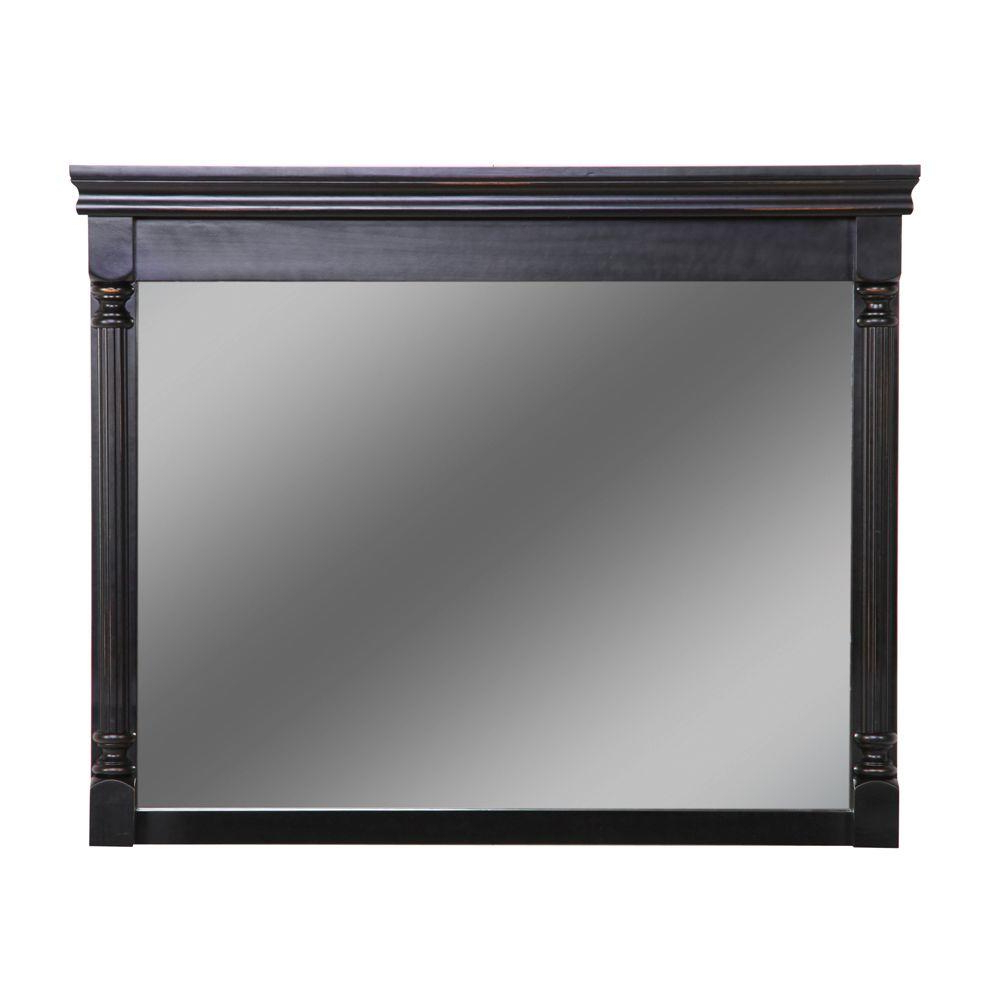 Black Framed Wall Mirrors Regarding Favorite St. Paul Valencia 42 In. W X 34 In (View 14 of 20)