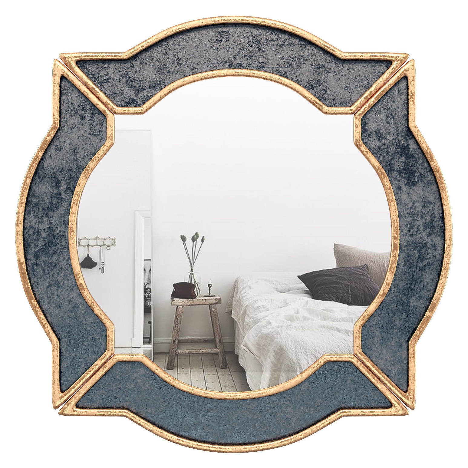 Black Gold Resin Wall Mirror Wrlo (View 16 of 20)