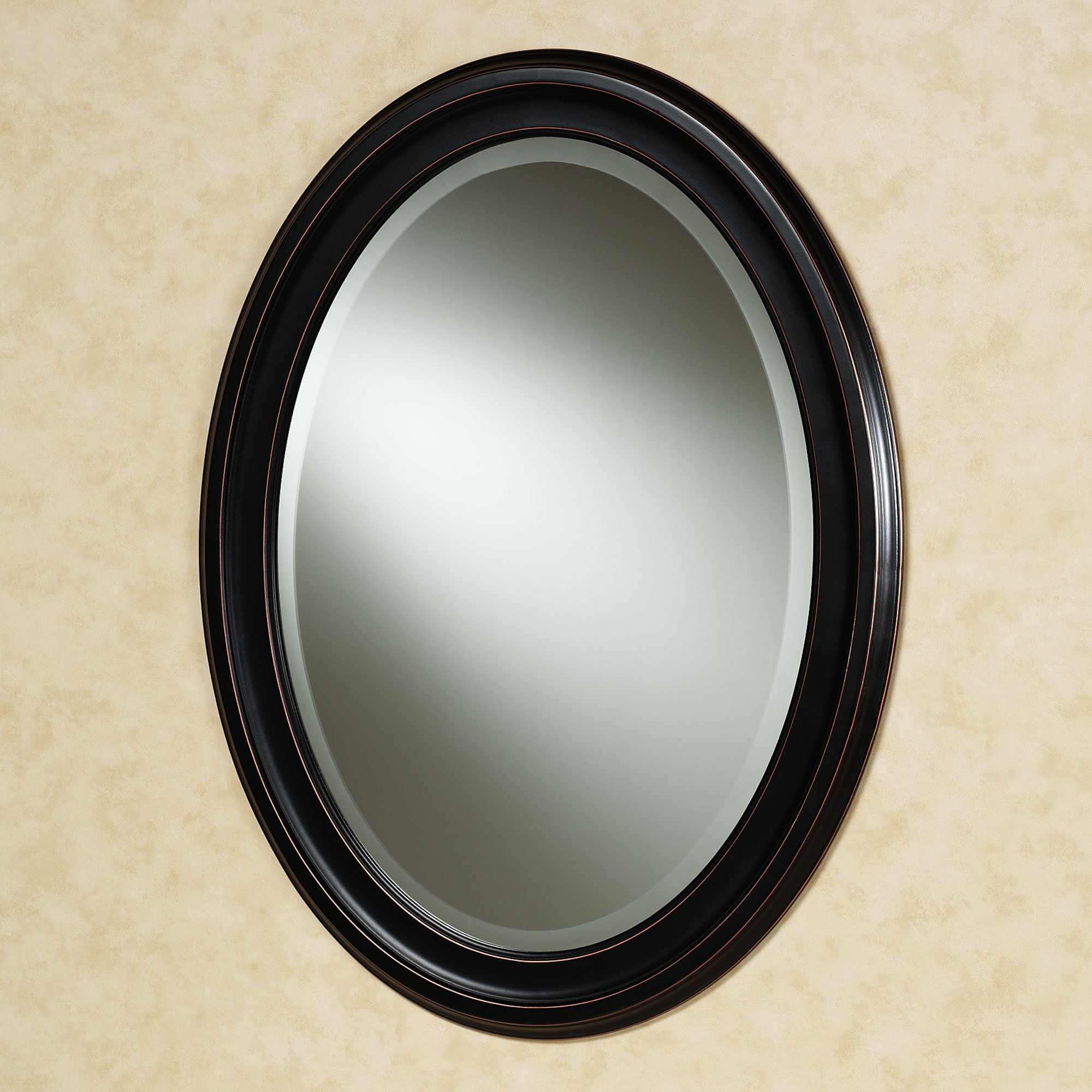 Black Oval Wall Mirrors Pertaining To Latest Oval Wall Mirrors, Black Oval Wall Clock Black Oval Wall Mirror (View 4 of 20)