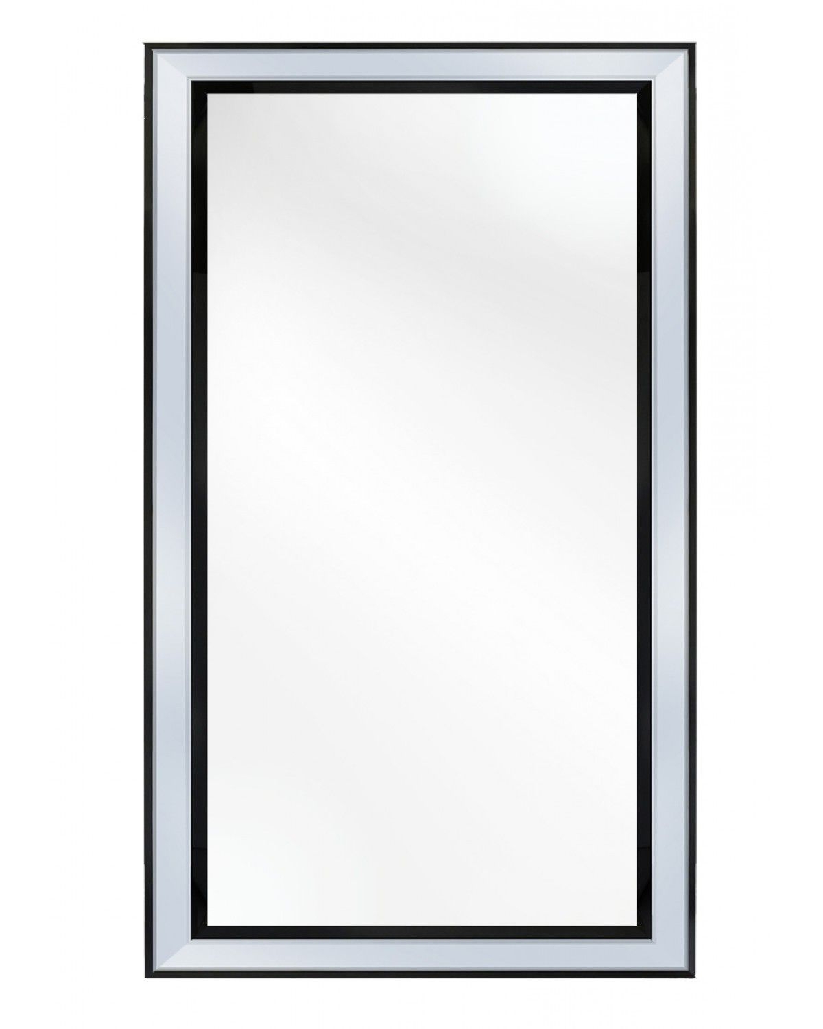 Black Rectangle Wall Mirrors Pertaining To Well Liked Black Modena Rectangle Wall Mirror (View 17 of 20)