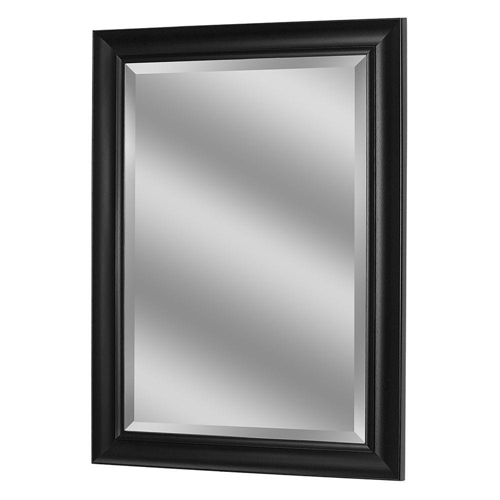 Black Wall Mirrors Pertaining To Most Recent Deco Mirror 35 In. X 29 In (View 7 of 20)