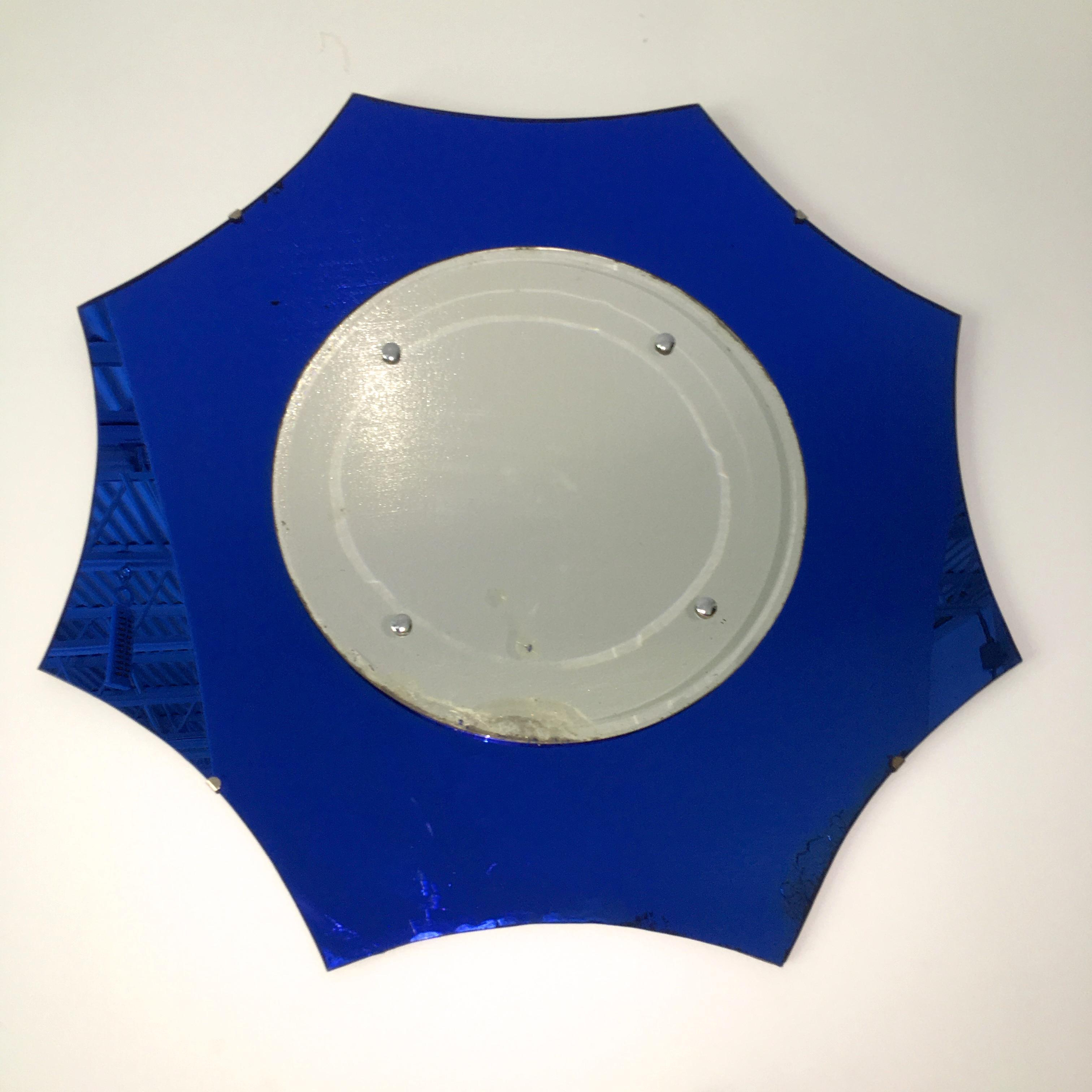 Blue Wall Mirrors In Most Up To Date Art Deco Cobalt Blue Wall Mirror (View 17 of 20)