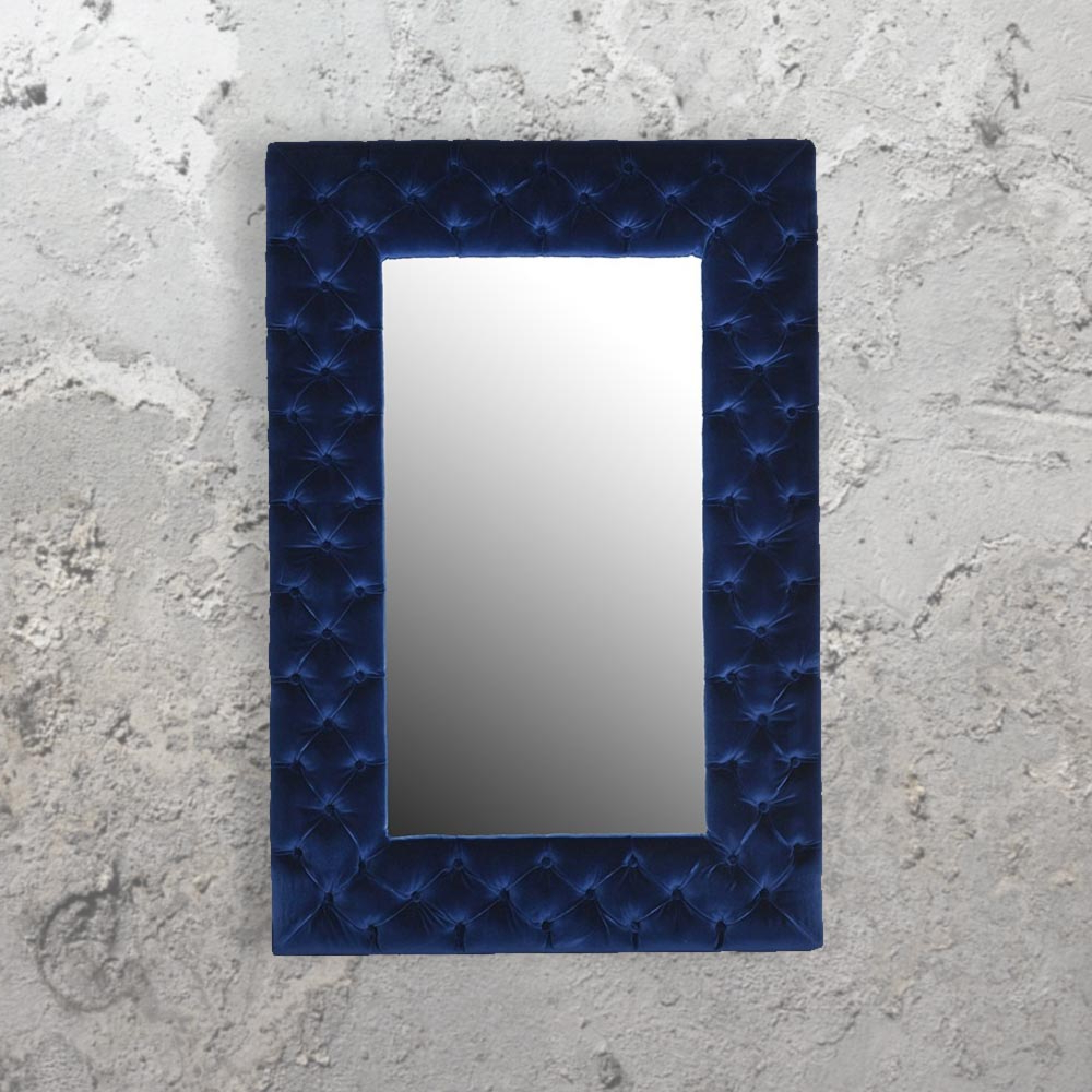 Blue Wall Mirrors Throughout Well Known Blue Velvet Mirror Cl (View 2 of 20)