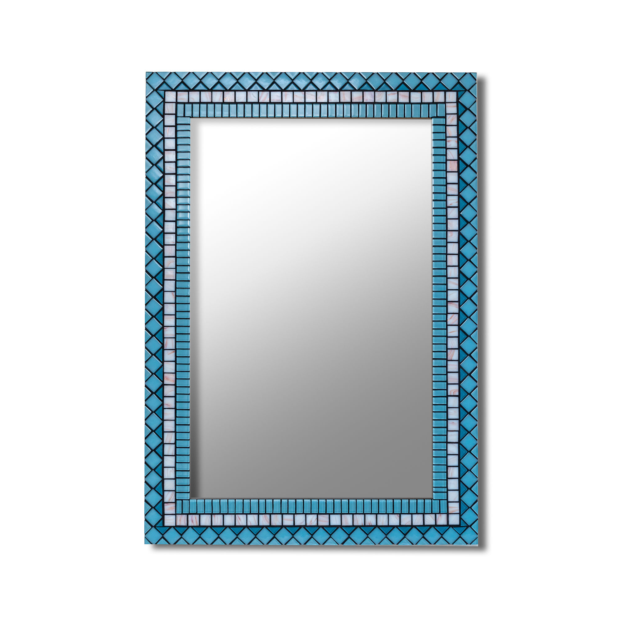 Blue Wall Mirrors With Regard To Fashionable Blue Wall Mirror, Rectangular Wall Mirror Blue, Large Wall Mirror, Decorative Wall Mirror Horizontal, Mirror For Dresser, Mosaic Tile Mirror (View 5 of 20)