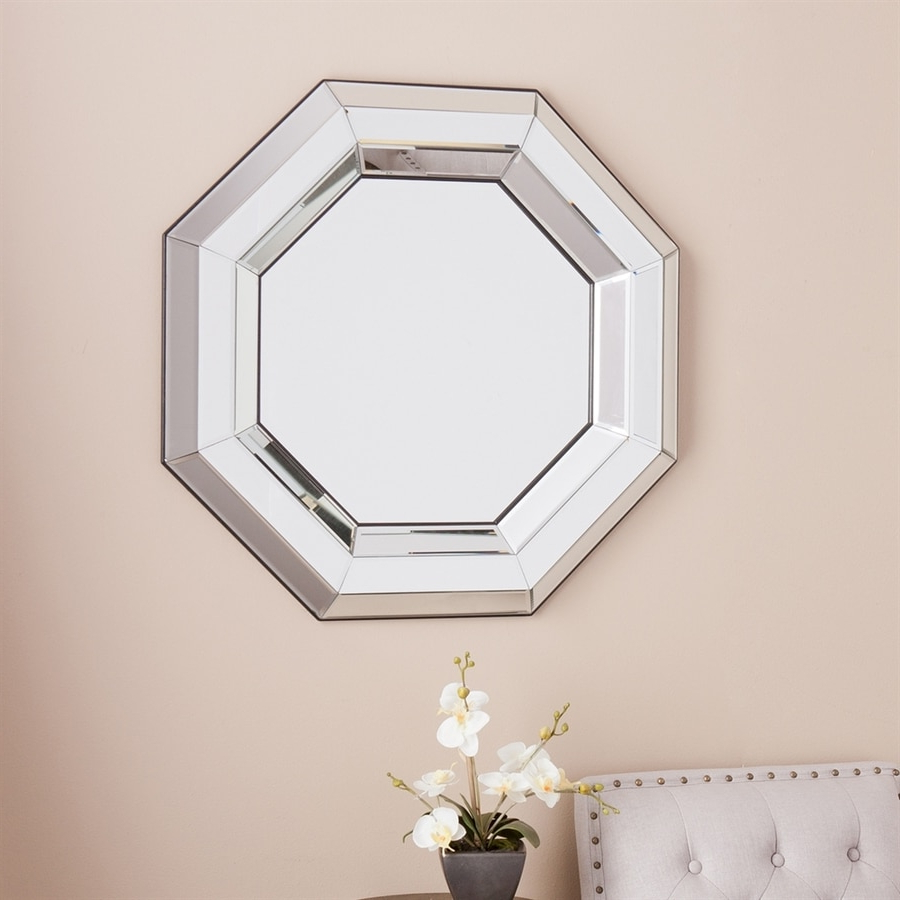 Boston Loft Furnishings Jana Mirrored Beveled Octagon Frameless Wall In Most Recently Released Octagon Wall Mirrors (View 14 of 20)