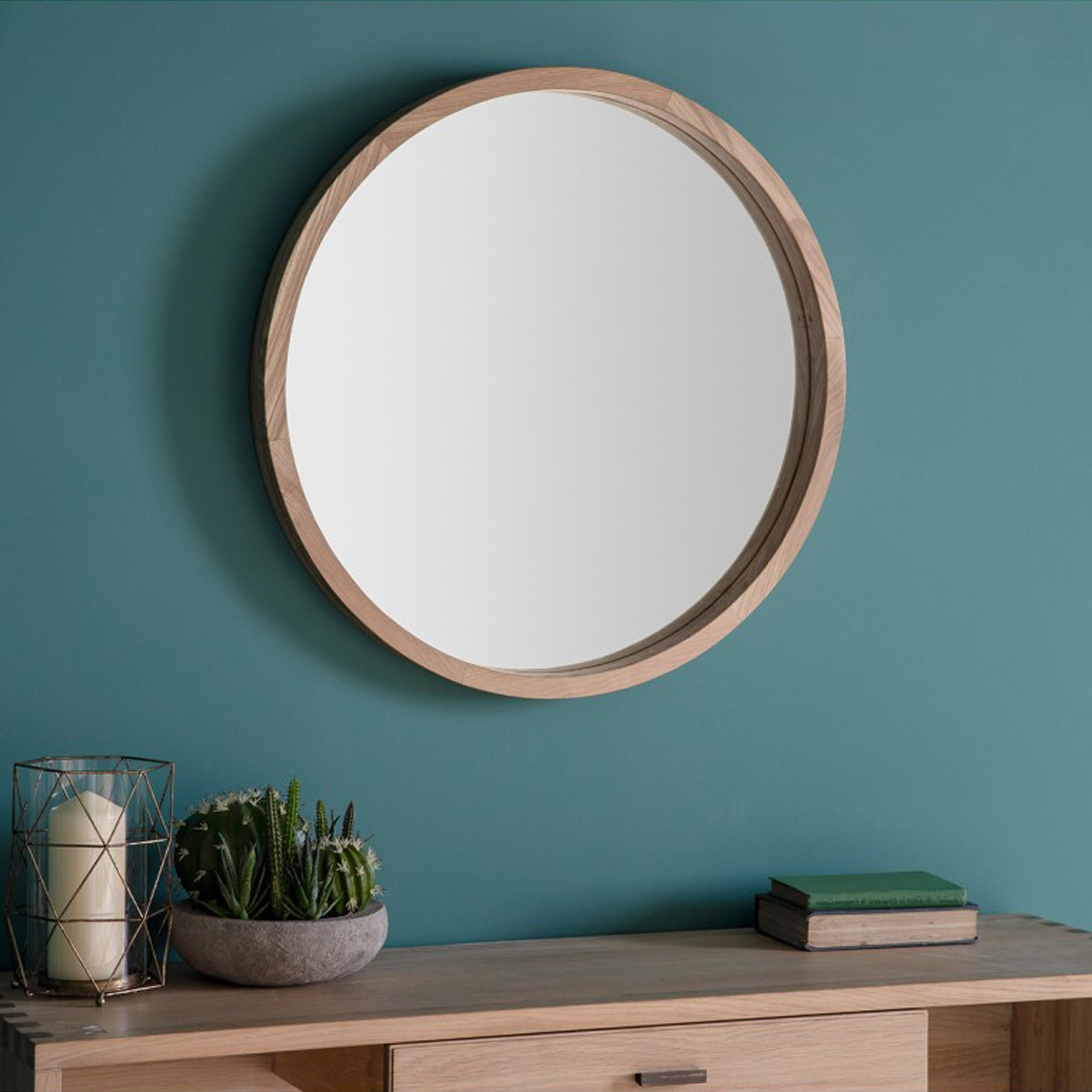 Bowman Small Round Wall Mirror For Trendy Round Wood Wall Mirrors (View 1 of 20)