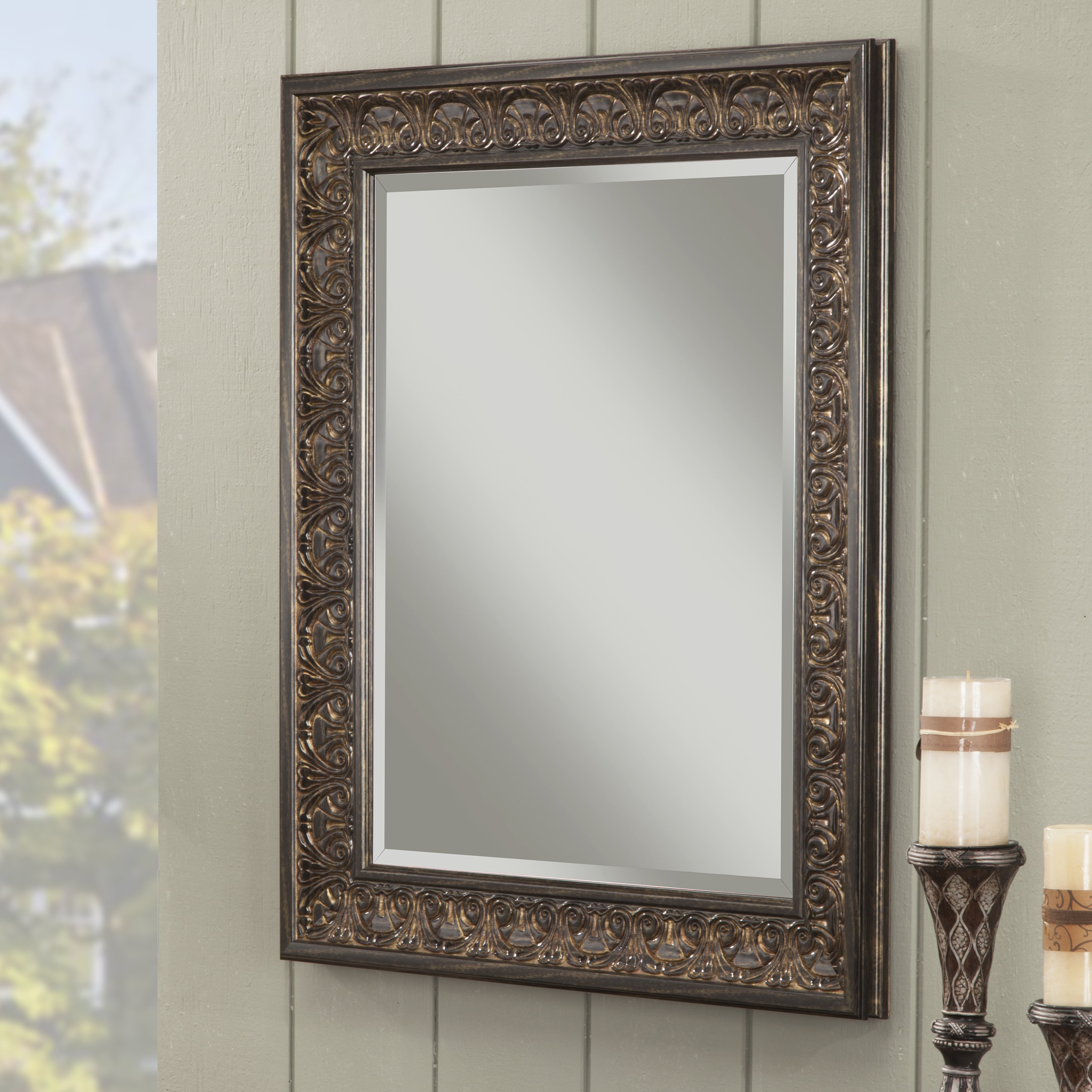 Boyers Wall Mirror Inside Favorite Lake Park Beveled Beaded Accent Wall Mirrors (View 17 of 20)