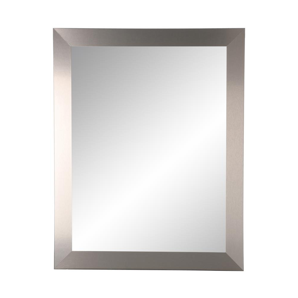 Brandtworks Industrial Modern Home Accent Square Wall Mirror In Well Known Flat Wall Mirrors (View 5 of 20)