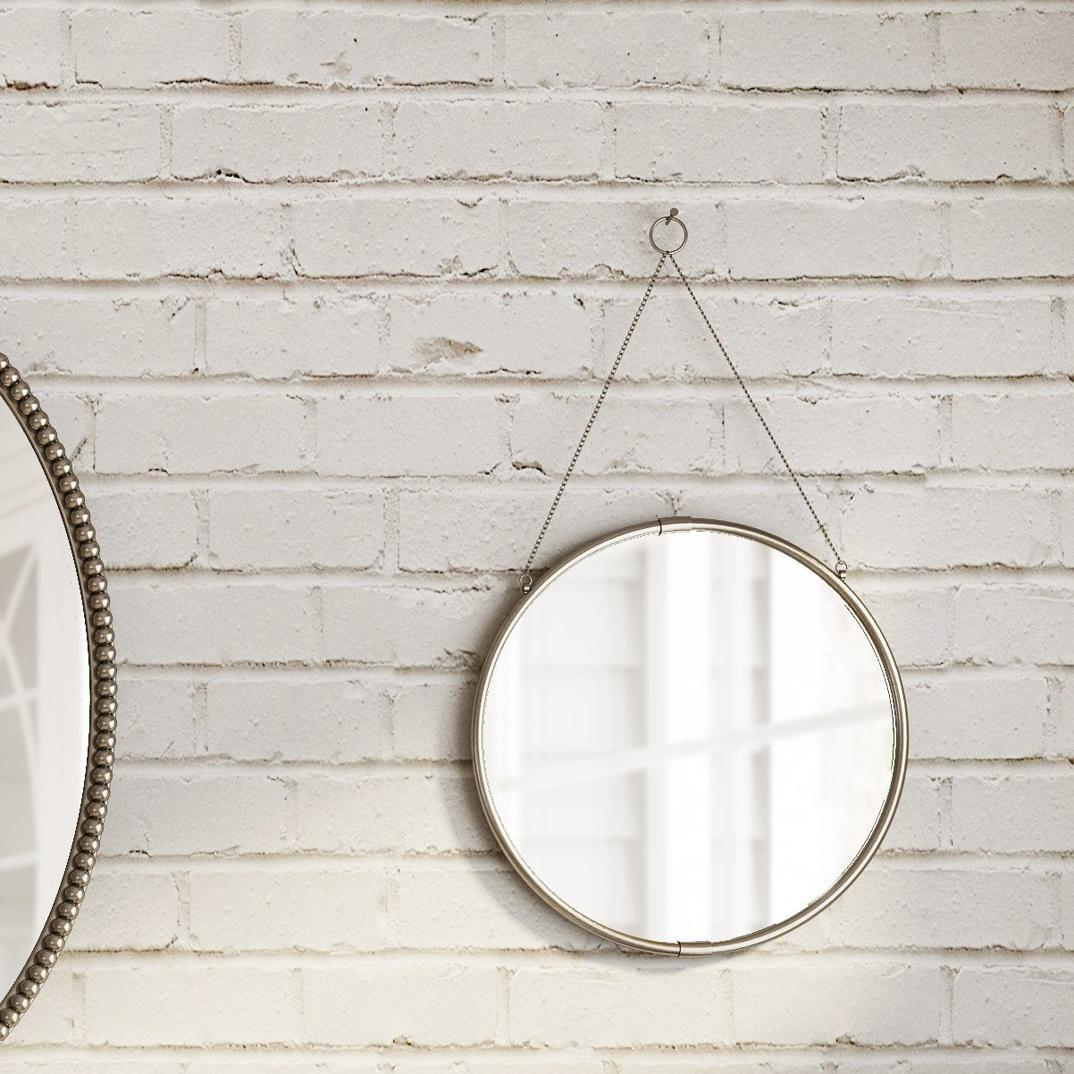 Brea Decorative Round Hanging Modern & Contemporary Wall Mirror Inside Most Up To Date Modern Decorative Wall Mirrors (View 4 of 20)