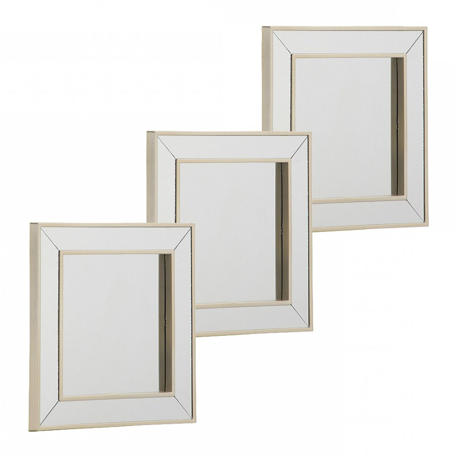 Briscoes – Mirror Framed Square Wall Mirror Set Of 3 15x15cm With Most Recently Released Square Wall Mirror Sets (View 10 of 20)